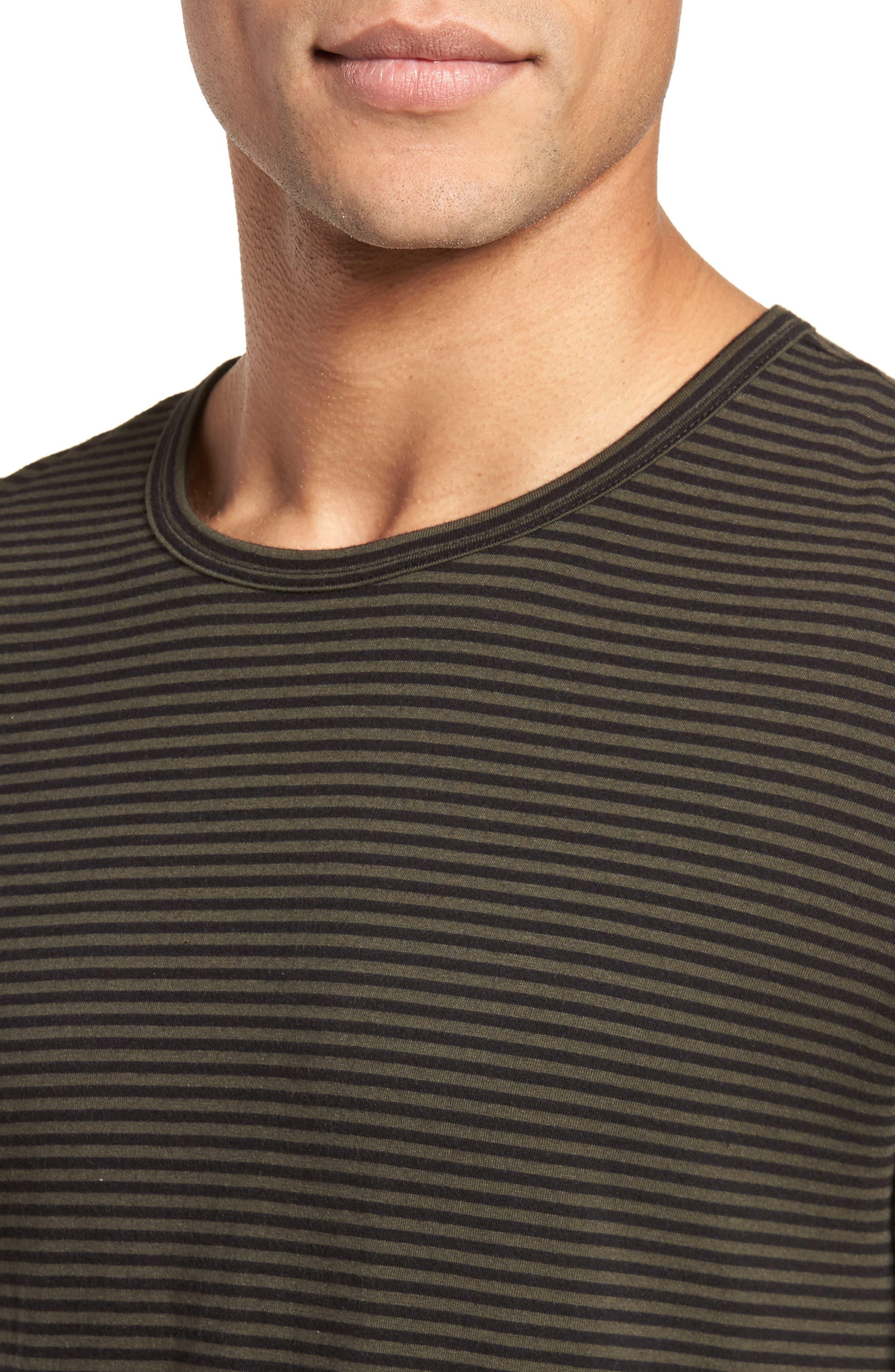 Feeder Stripe Long Sleeve Shirt,                             Alternate thumbnail 8, color,