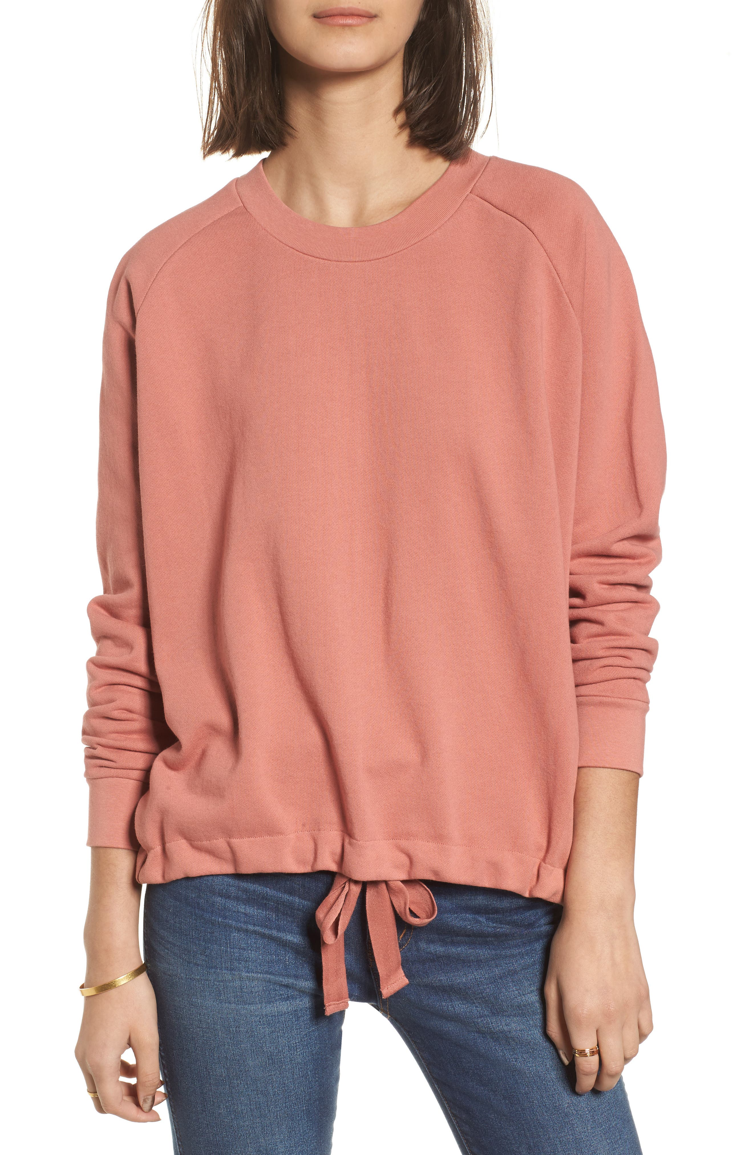 Drawstring Sweatshirt,                             Main thumbnail 2, color,