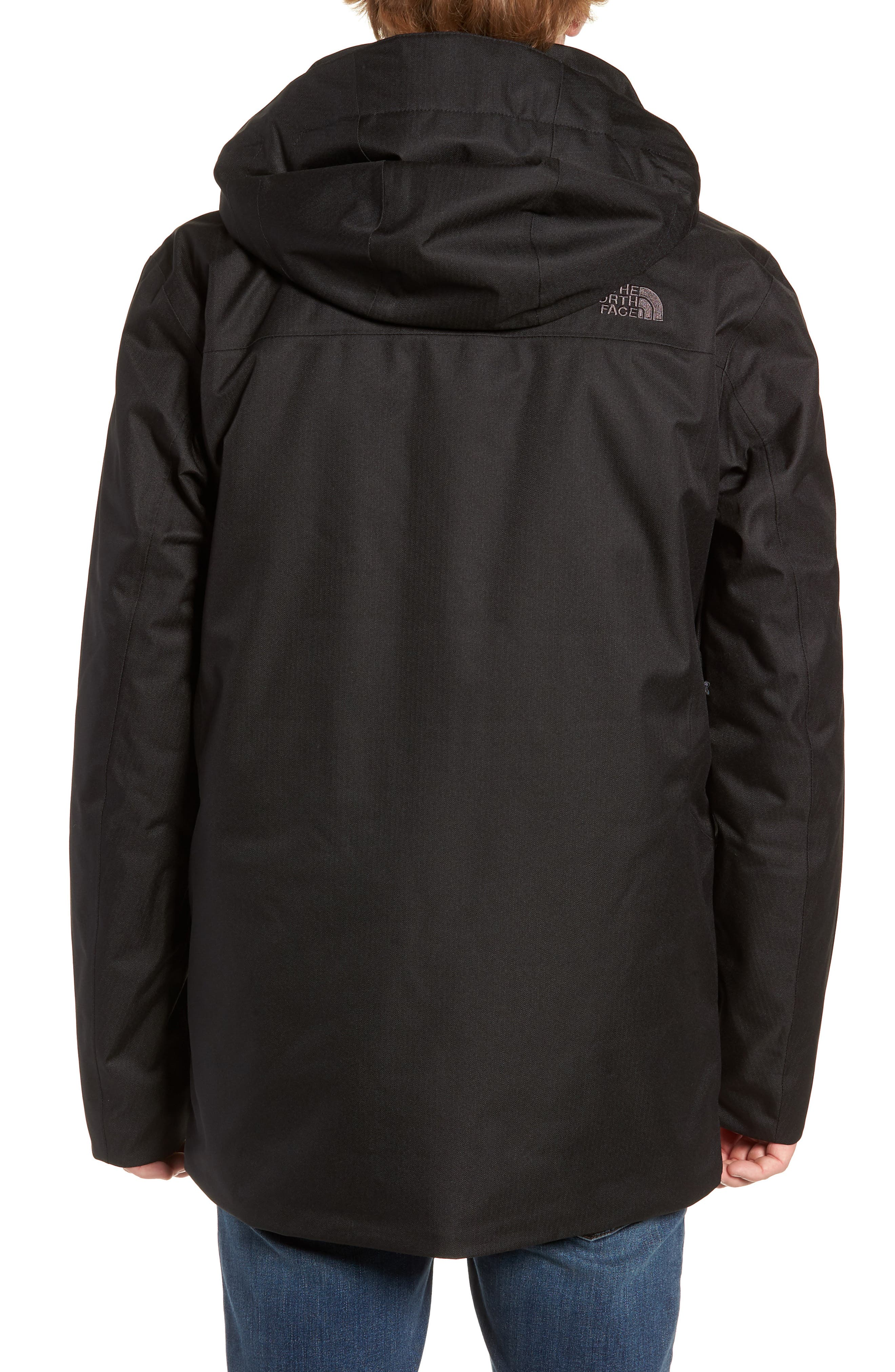 Gatekeeper Waterproof Jacket,                             Alternate thumbnail 2, color,                             TNF BLACK/TNF BLACK