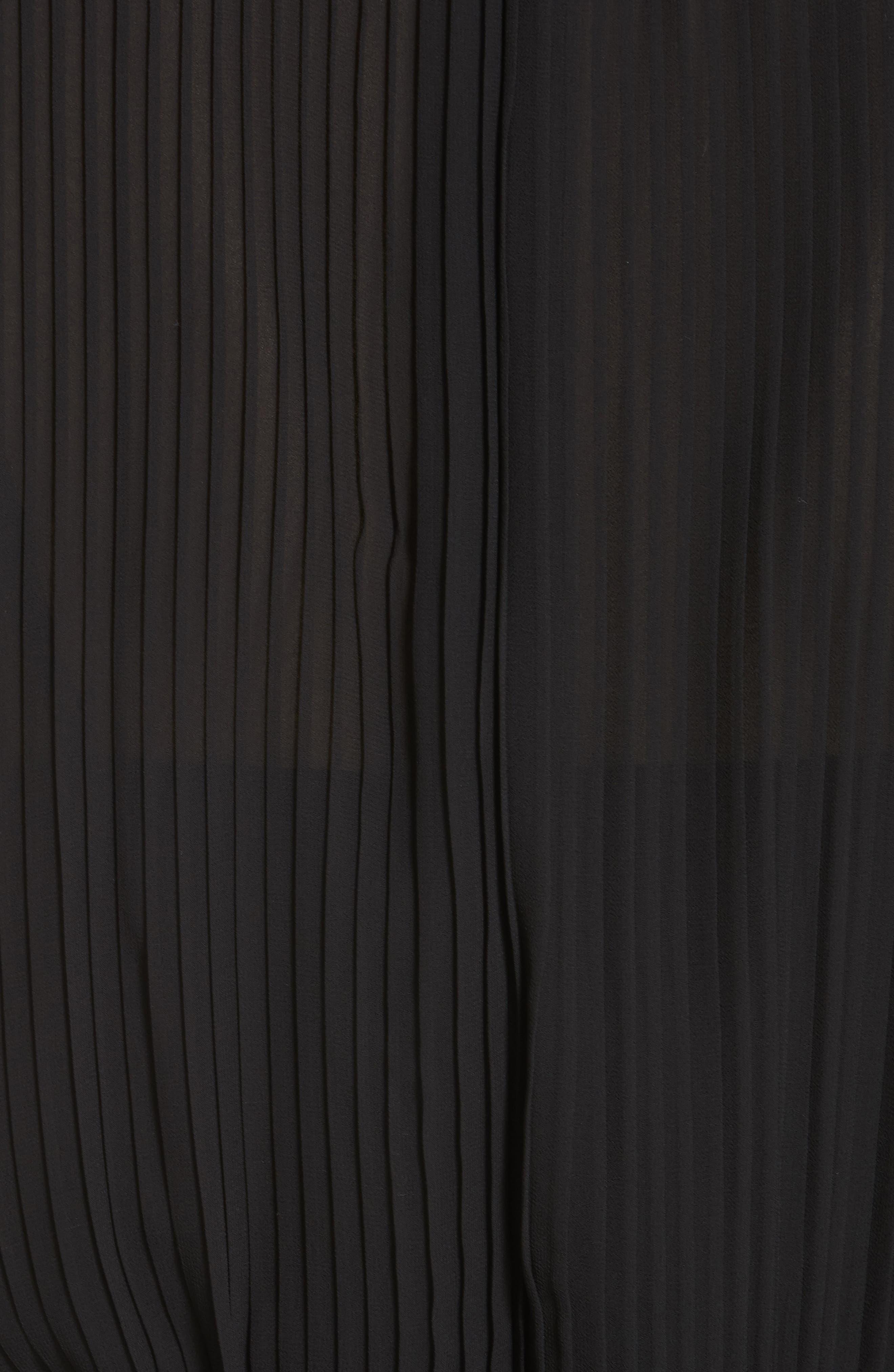 Anbele Midi Dress,                             Alternate thumbnail 5, color,                             POLO BLACK