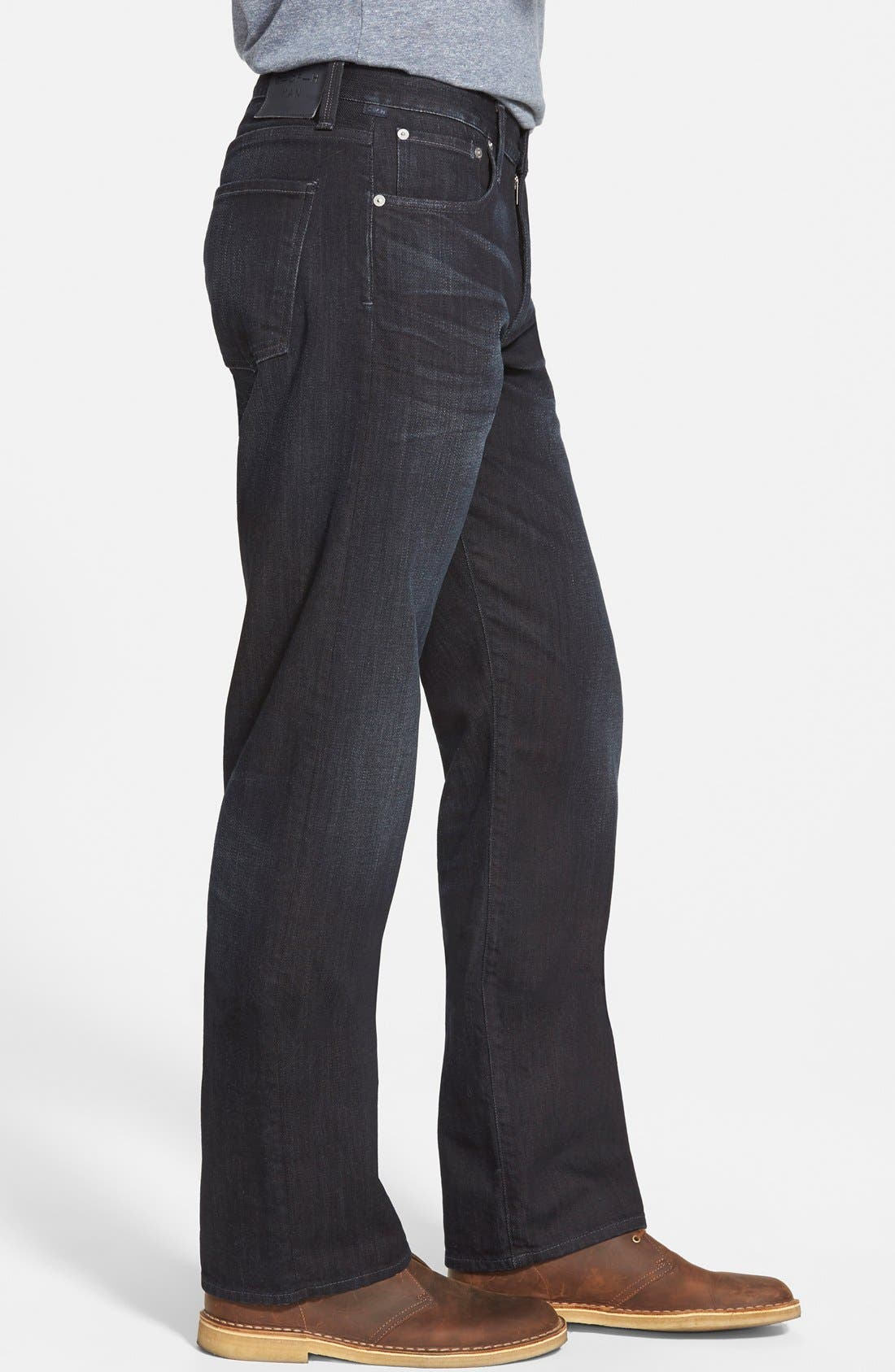 'Evans' Relaxed Fit Jeans,                             Alternate thumbnail 4, color,                             MACON
