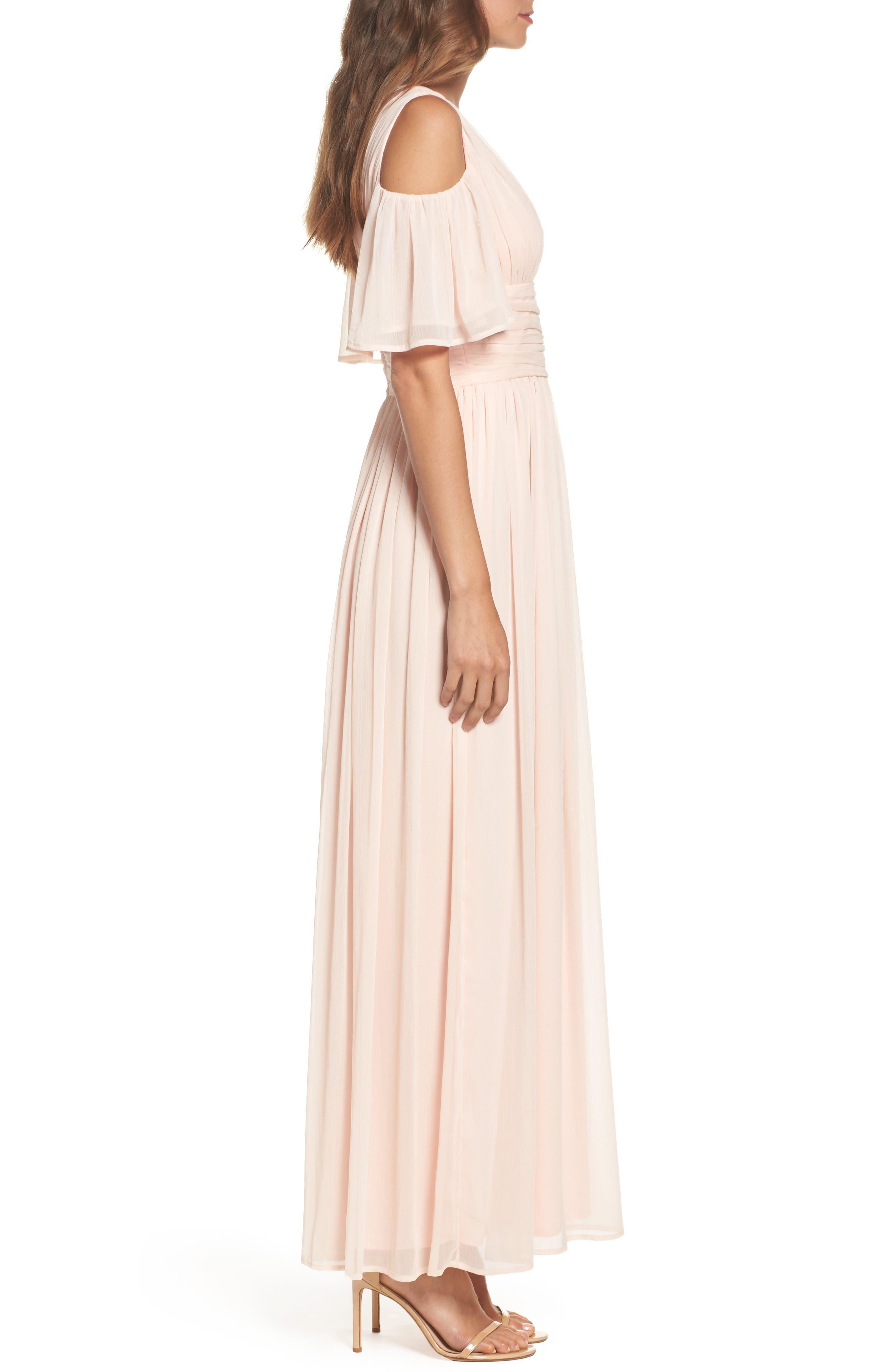 Constance Cold Shoulder Maxi Dress,                             Alternate thumbnail 3, color,                             680