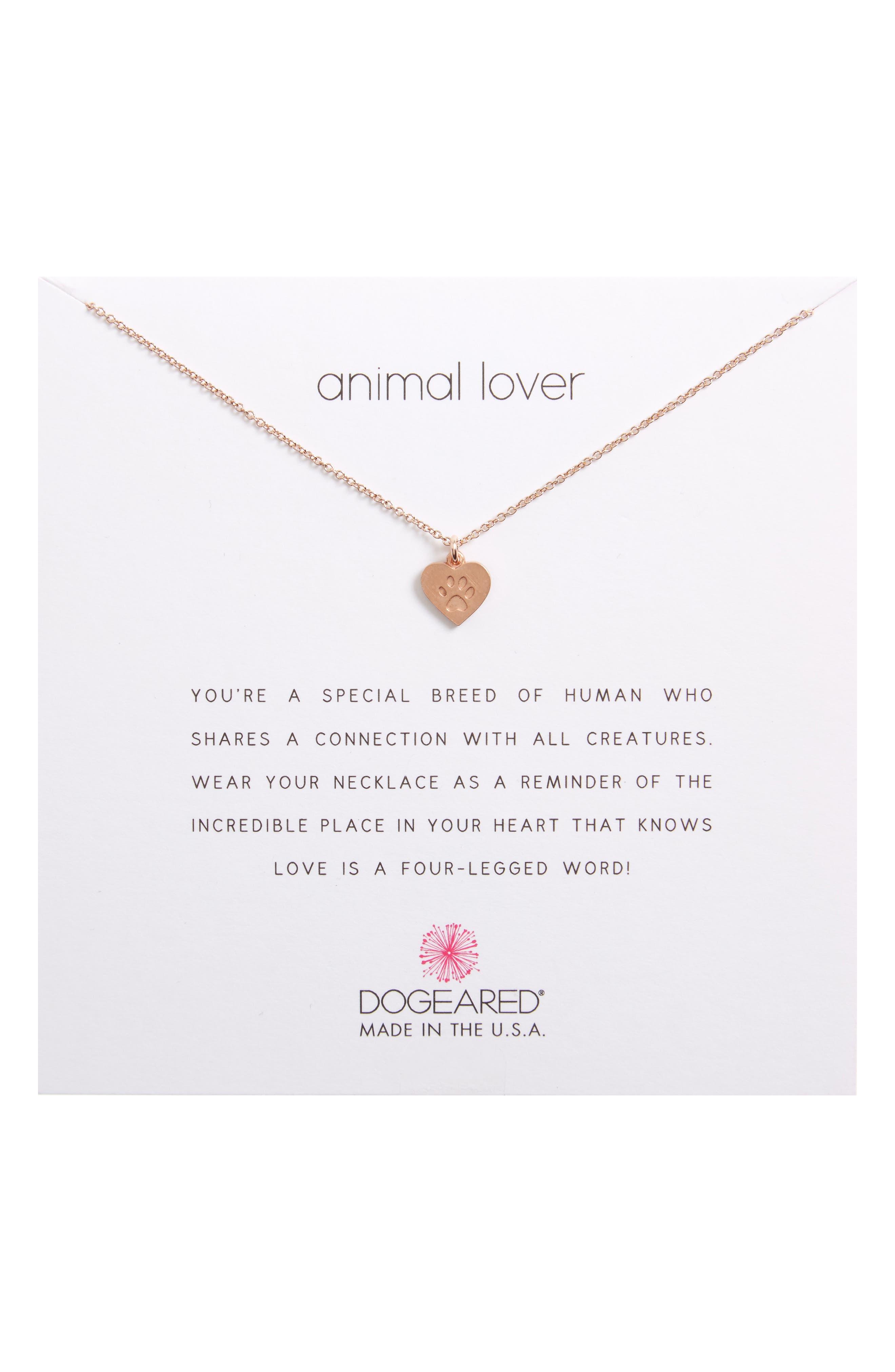Animal Lover Best Friends Paw Charm Pendant Necklace,                             Alternate thumbnail 3, color,                             650
