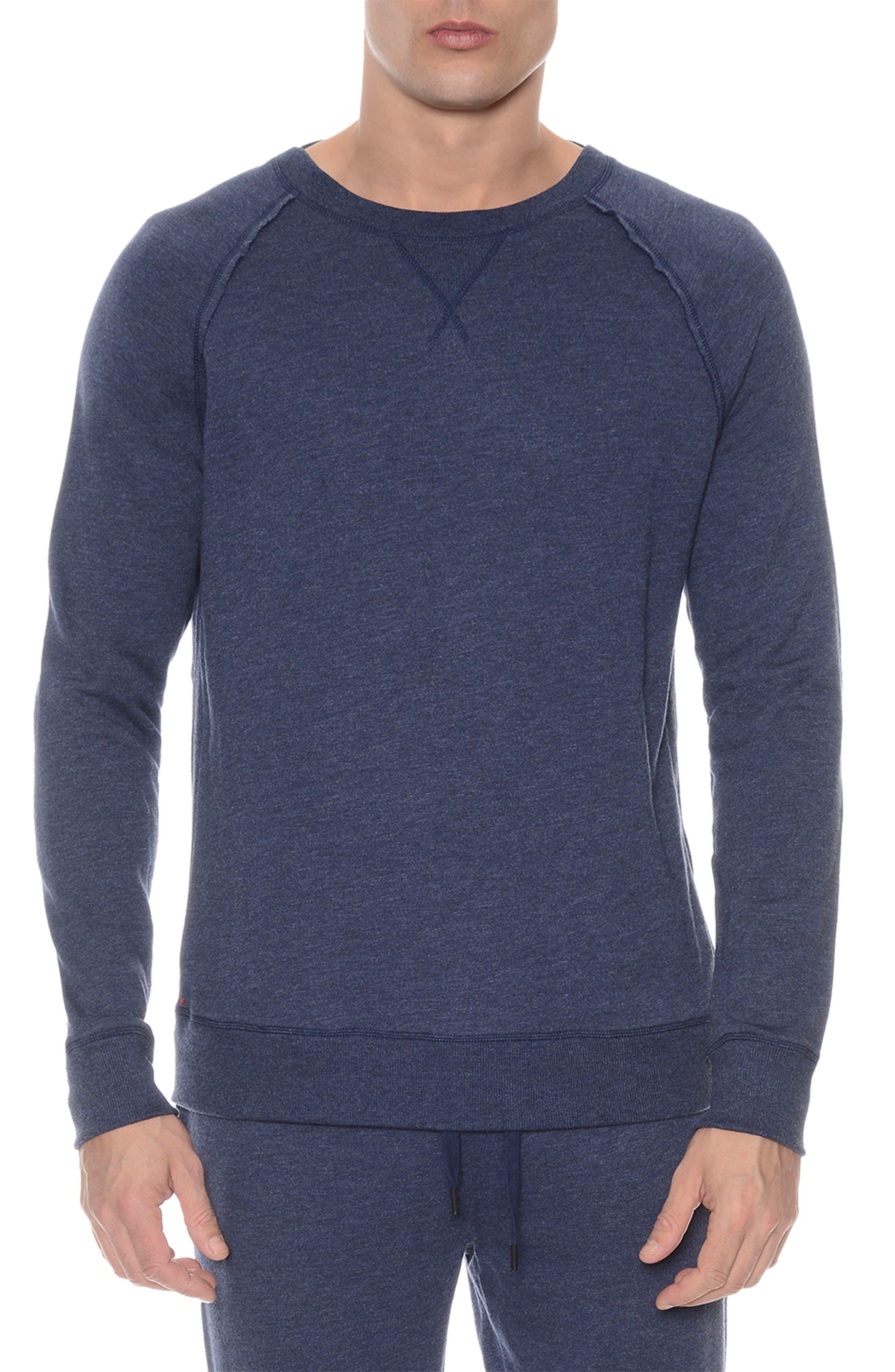 Terry Sweatshirt,                         Main,                         color, DENIM HEATHER