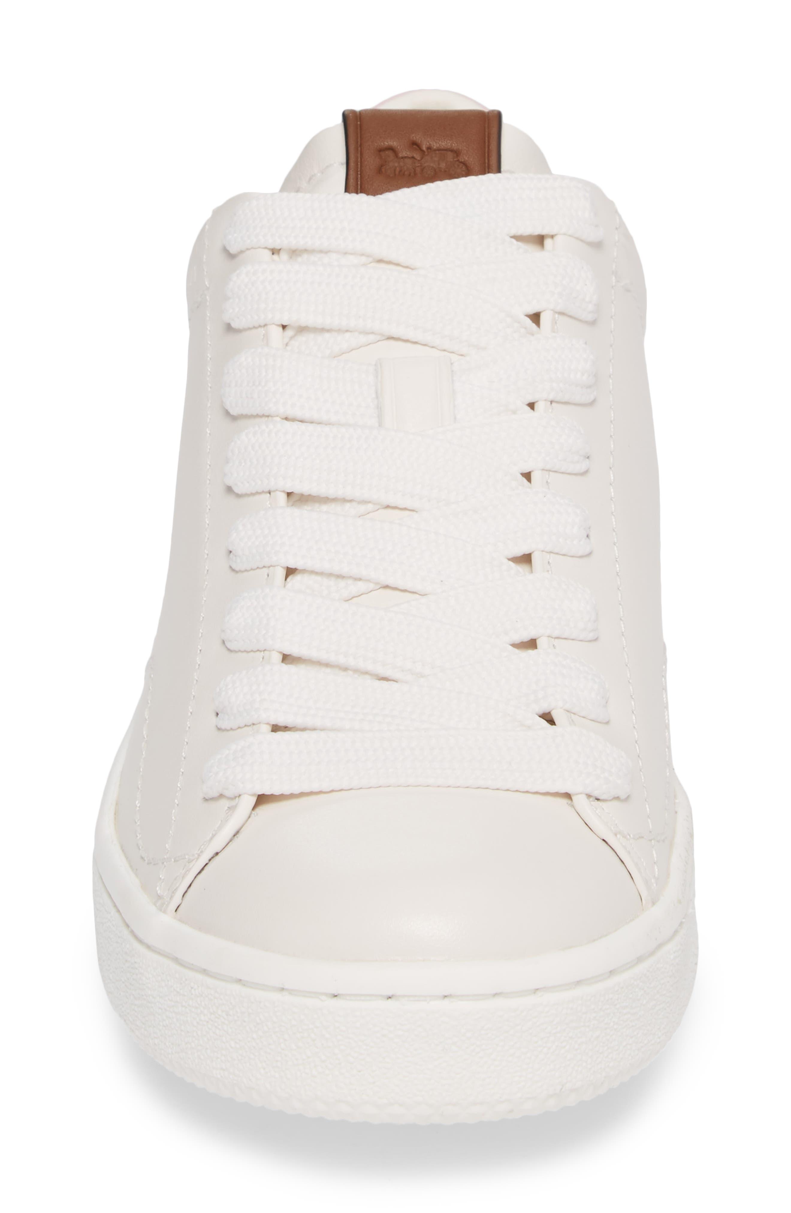 Sneaker,                             Alternate thumbnail 4, color,                             WHITE/ PETAL LEATHER