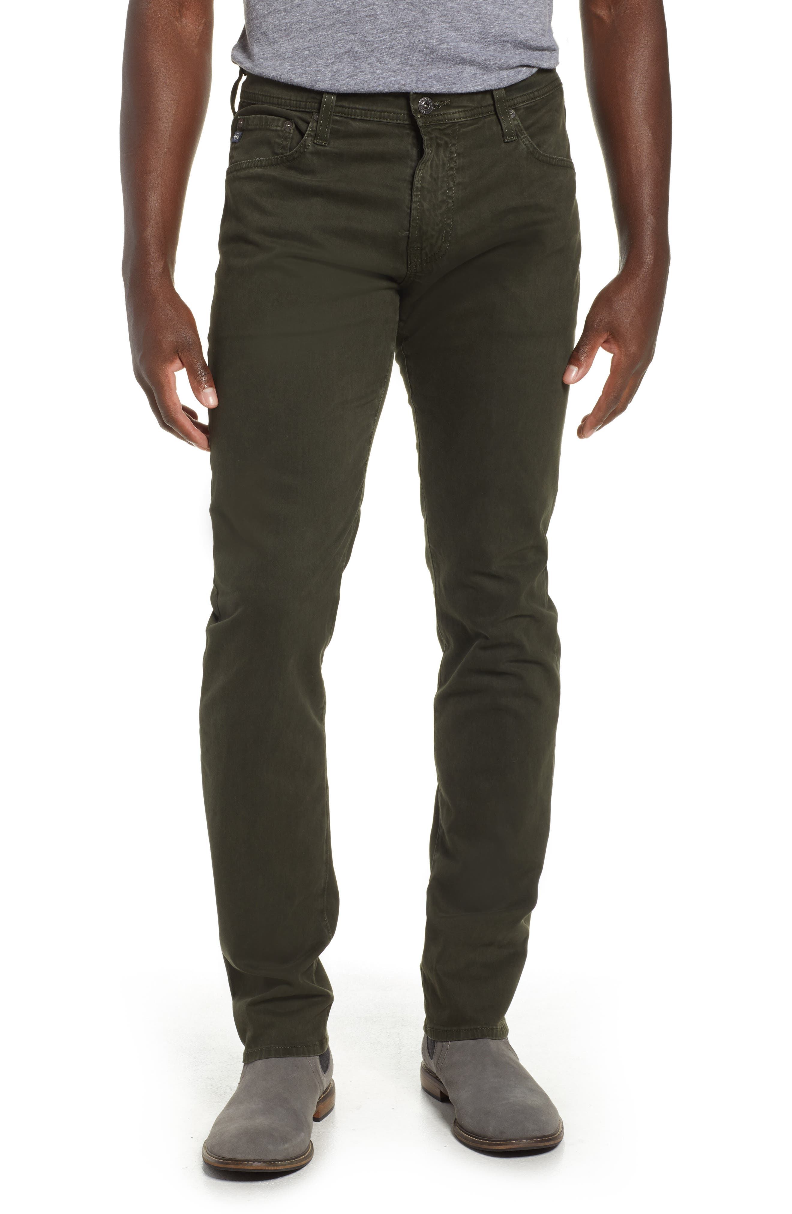 Tellis SUD Modern Slim Stretch Twill Pants,                         Main,                         color, SULFUR OAK GROVE