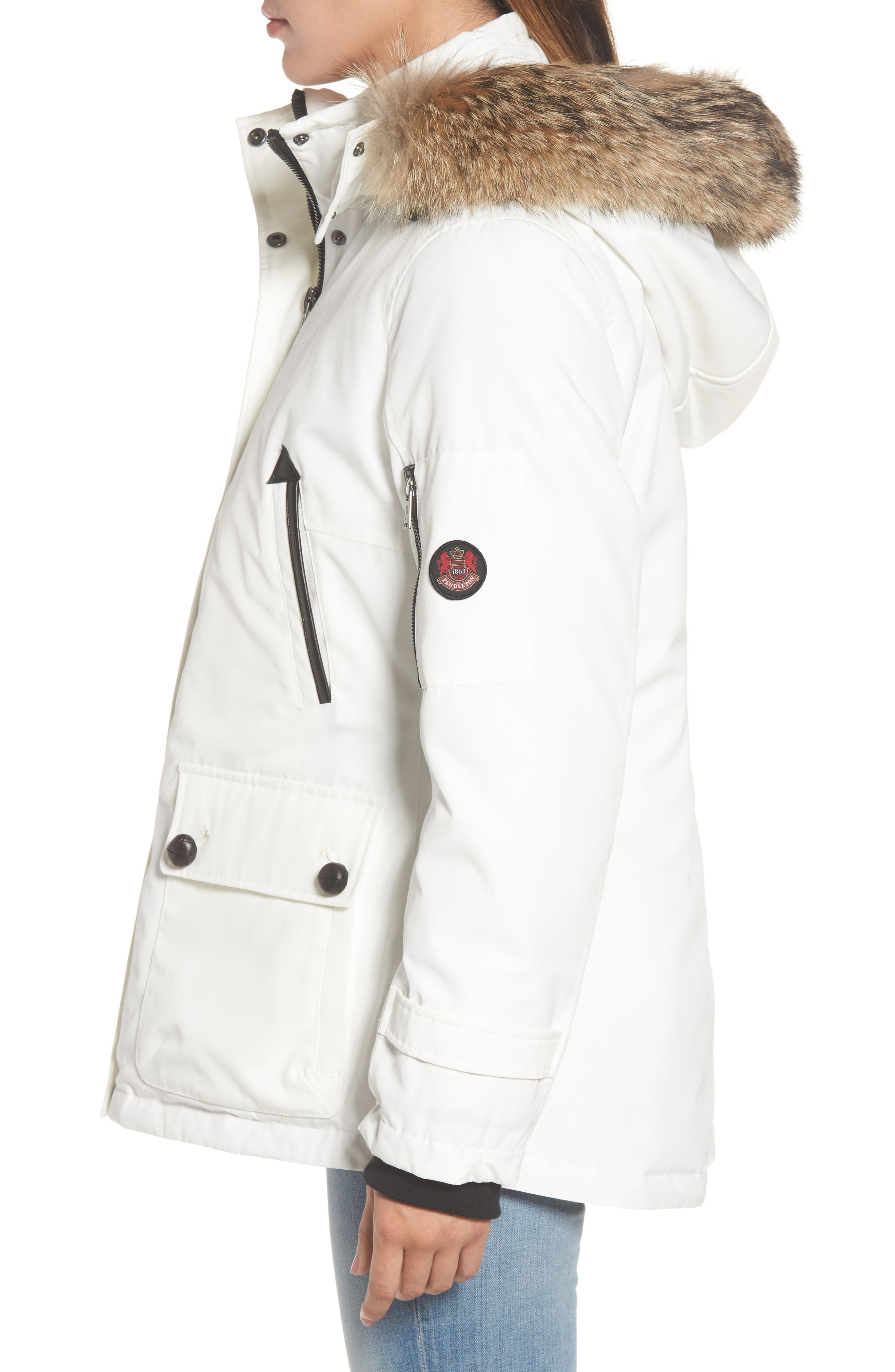 Bachelor Water Repellent Hooded Down Parka with Genuine Coyote Fur Trim,                             Alternate thumbnail 10, color,