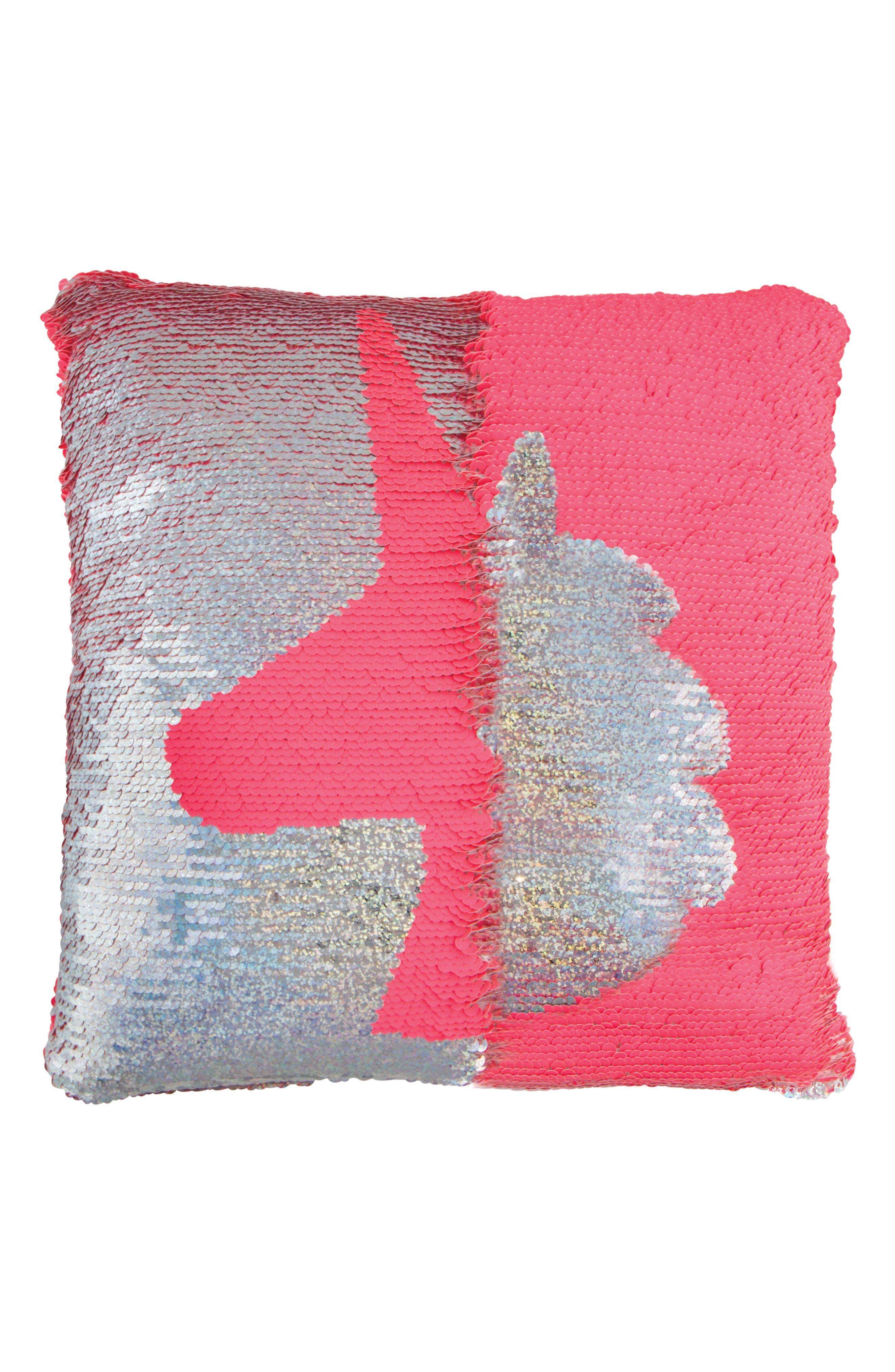 Magic Flip Sequin Unicorn Accent Pillow,                             Alternate thumbnail 2, color,                             650