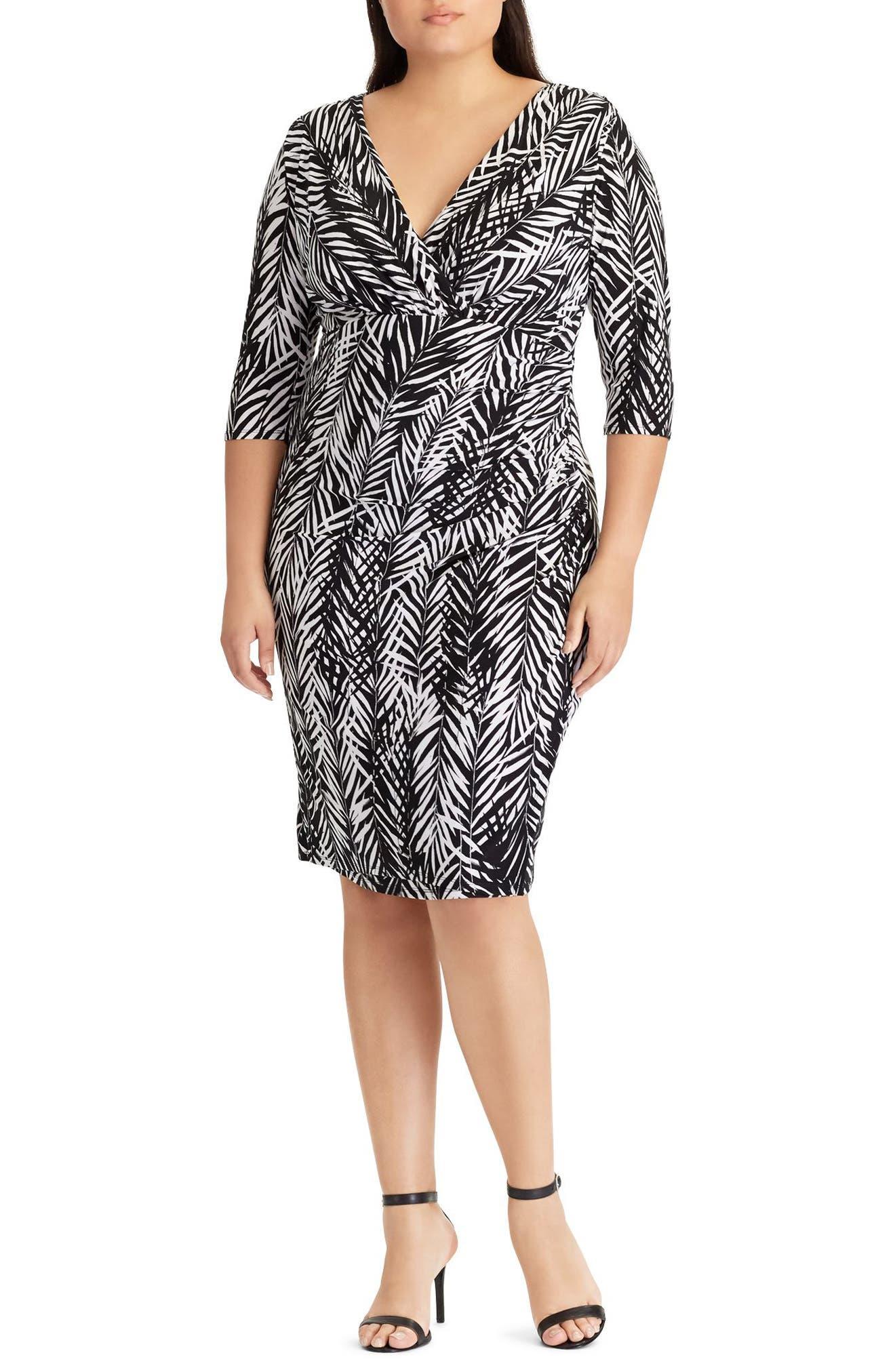 Zebra Twigs Sheath Dress,                             Main thumbnail 1, color,                             001