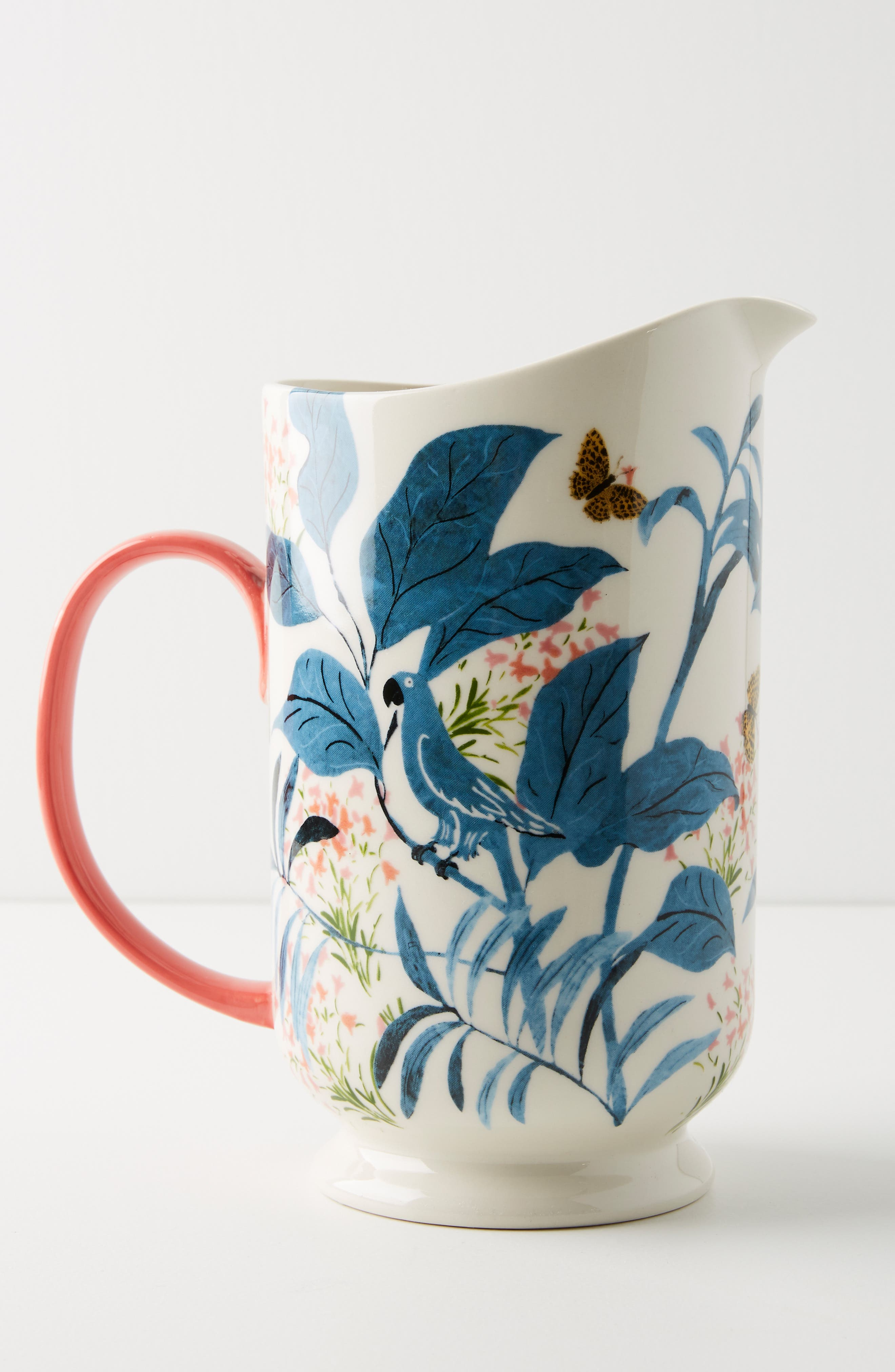 ANTHROPOLOGIE,                             Paule Marrot Butterfly Pitcher,                             Alternate thumbnail 2, color,                             BLUE