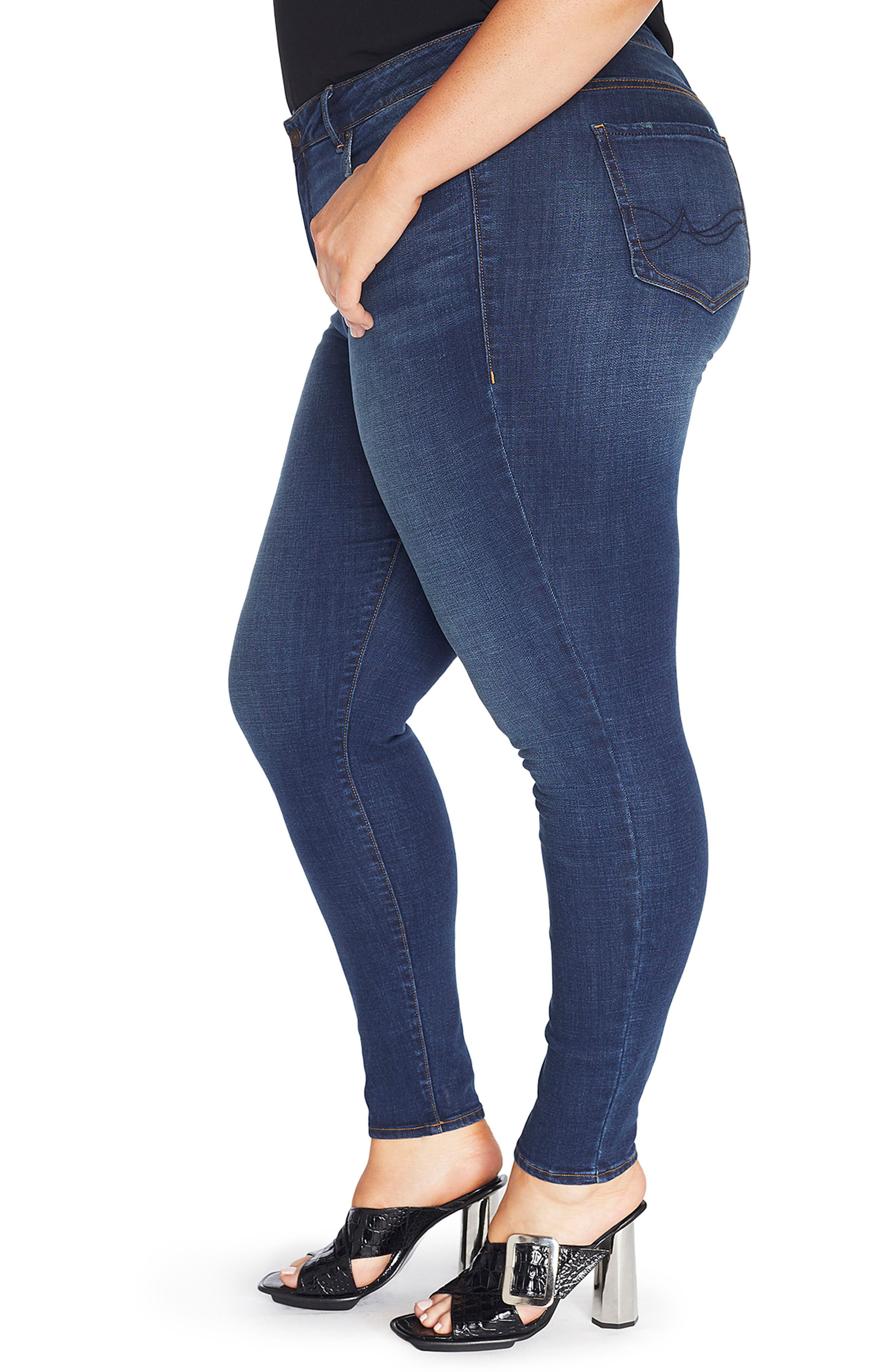 The Pin Up Super Skinny Jeans,                             Alternate thumbnail 14, color,