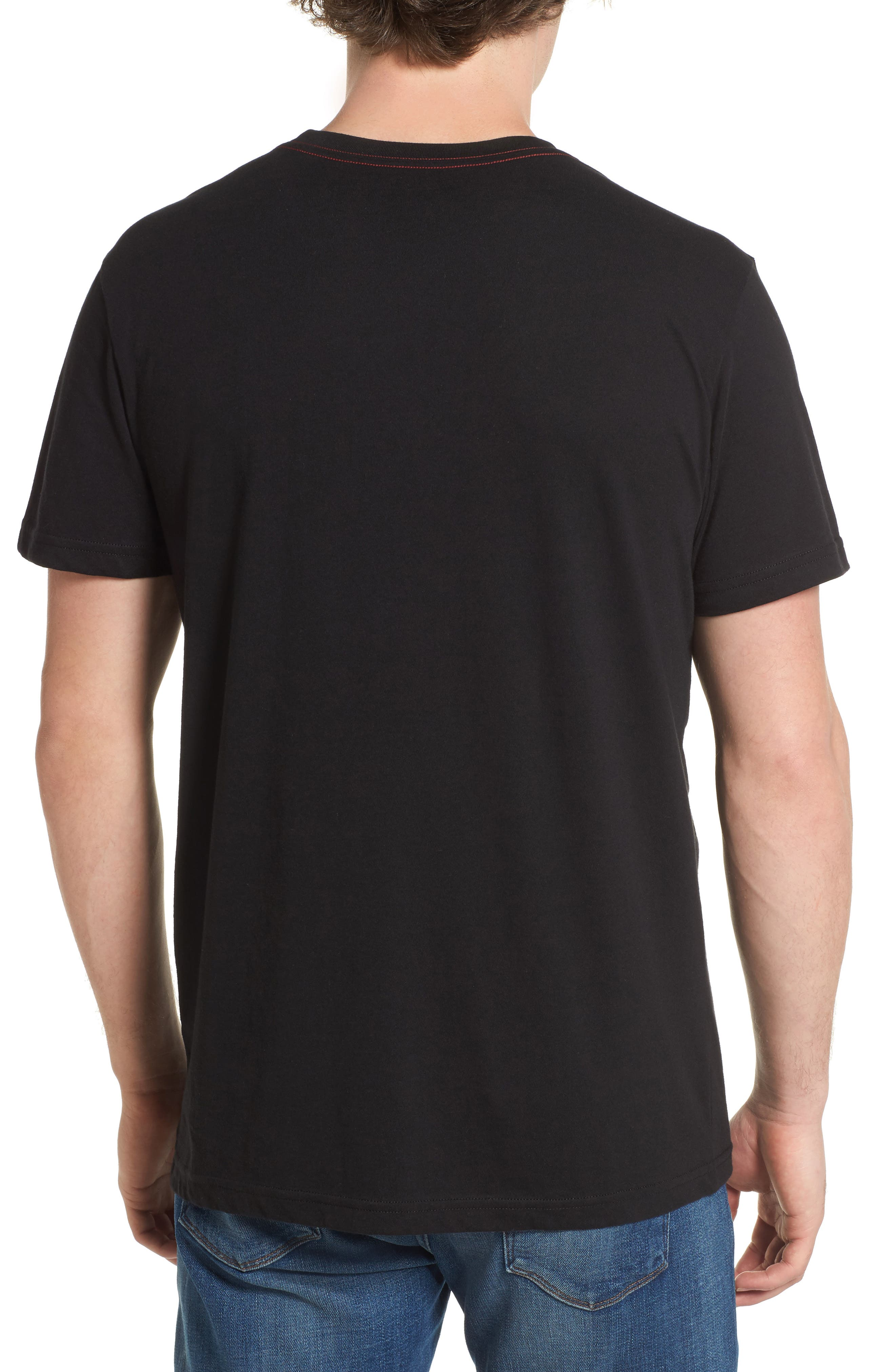 Big RVCA Gradient Logo T-Shirt,                             Alternate thumbnail 3, color,