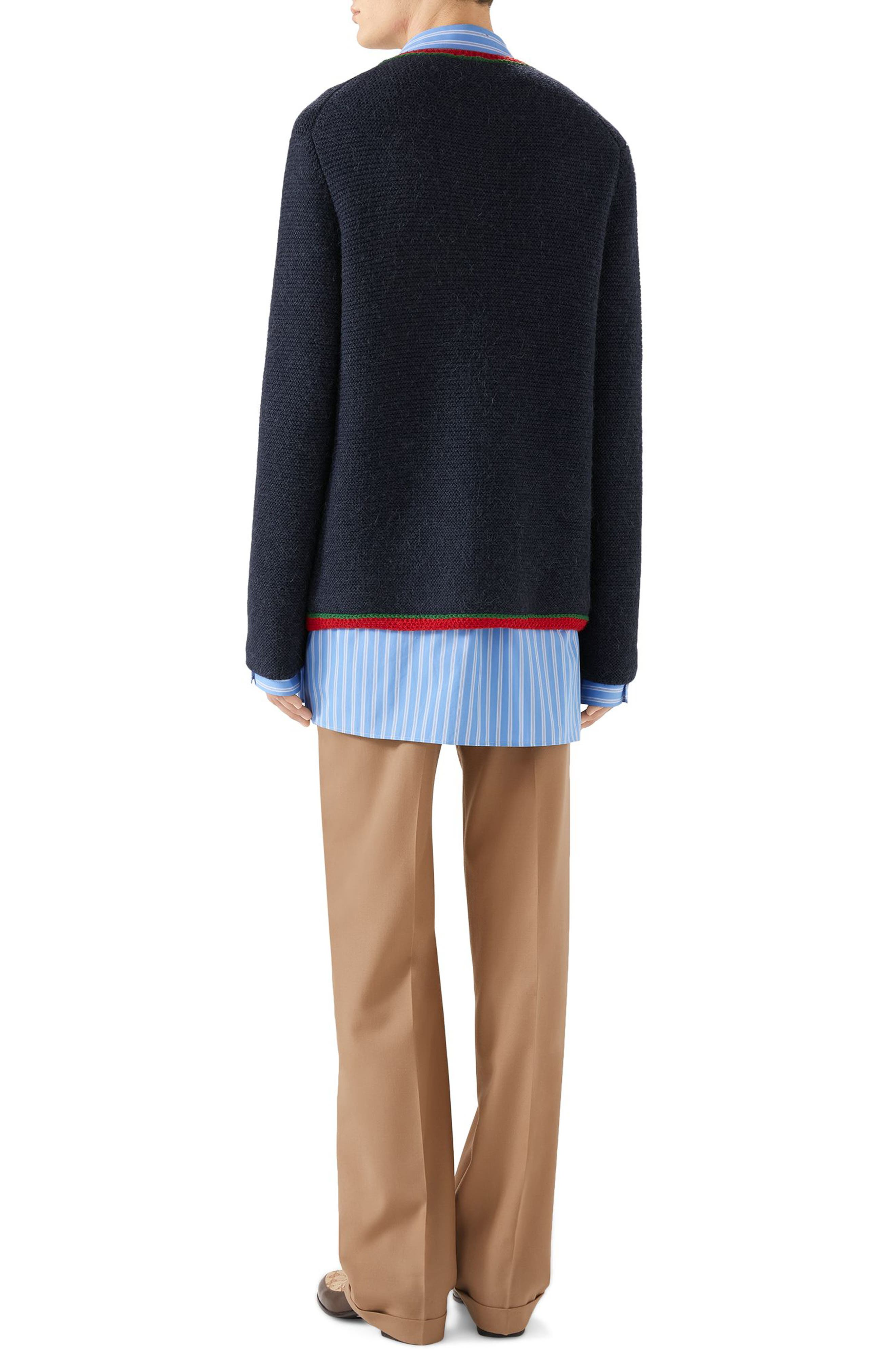 Wool Sweater,                             Alternate thumbnail 4, color,                             NAVY