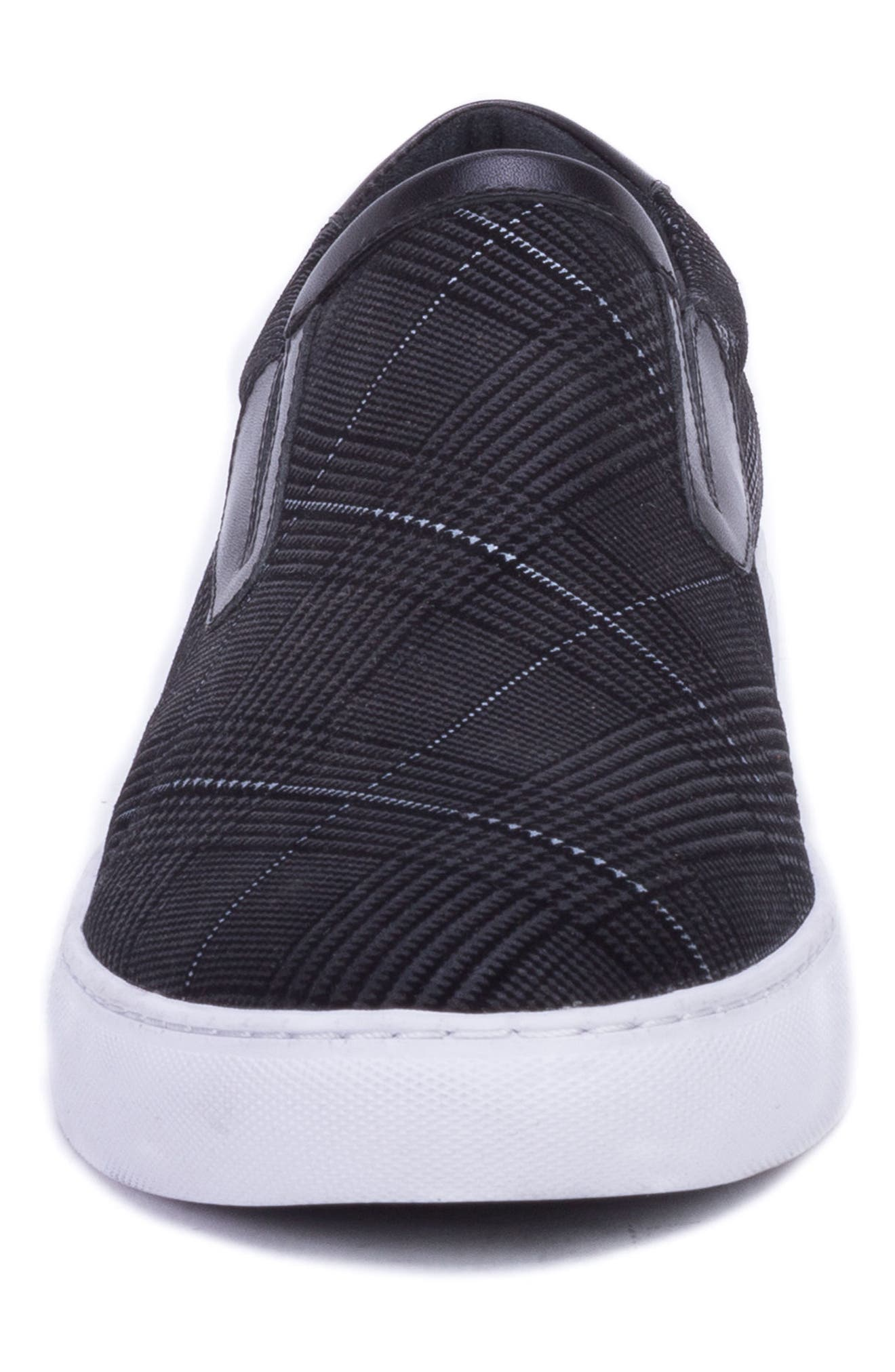 Kerby Slip-On Sneaker,                             Alternate thumbnail 4, color,                             BLACK SUEDE