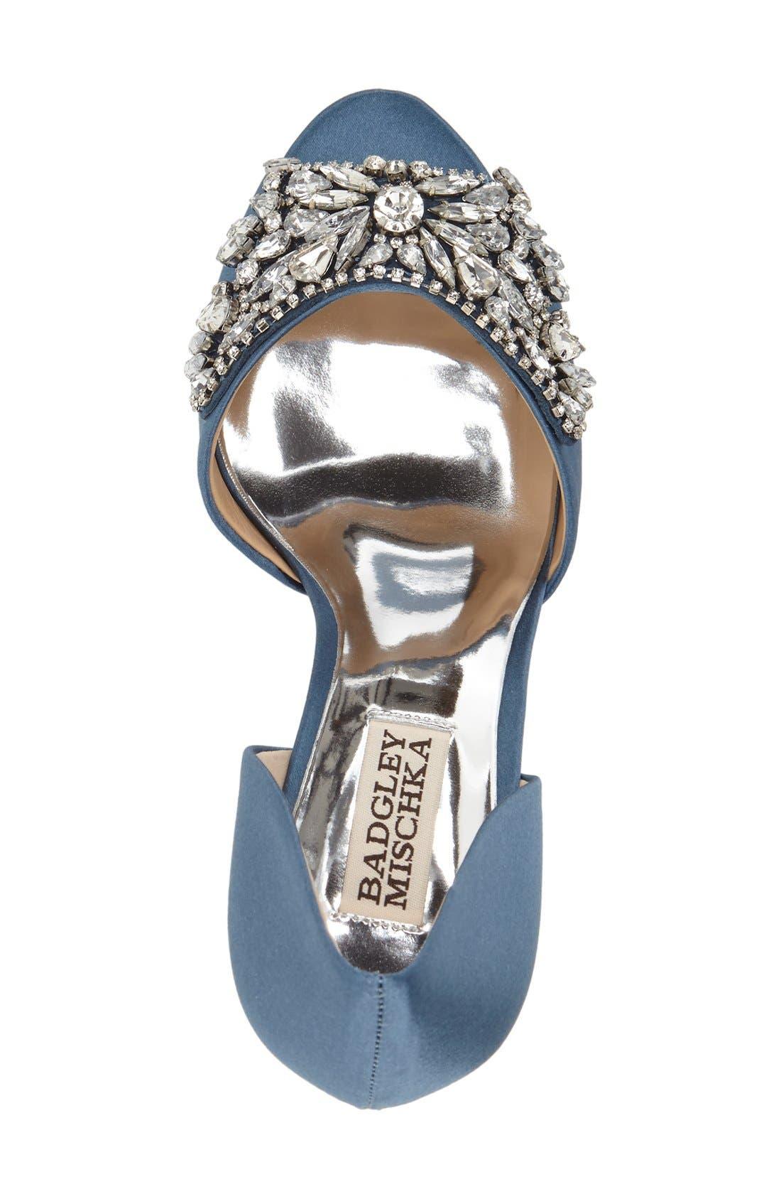 'Candance' Crystal Embellished d'Orsay Pump,                             Alternate thumbnail 10, color,