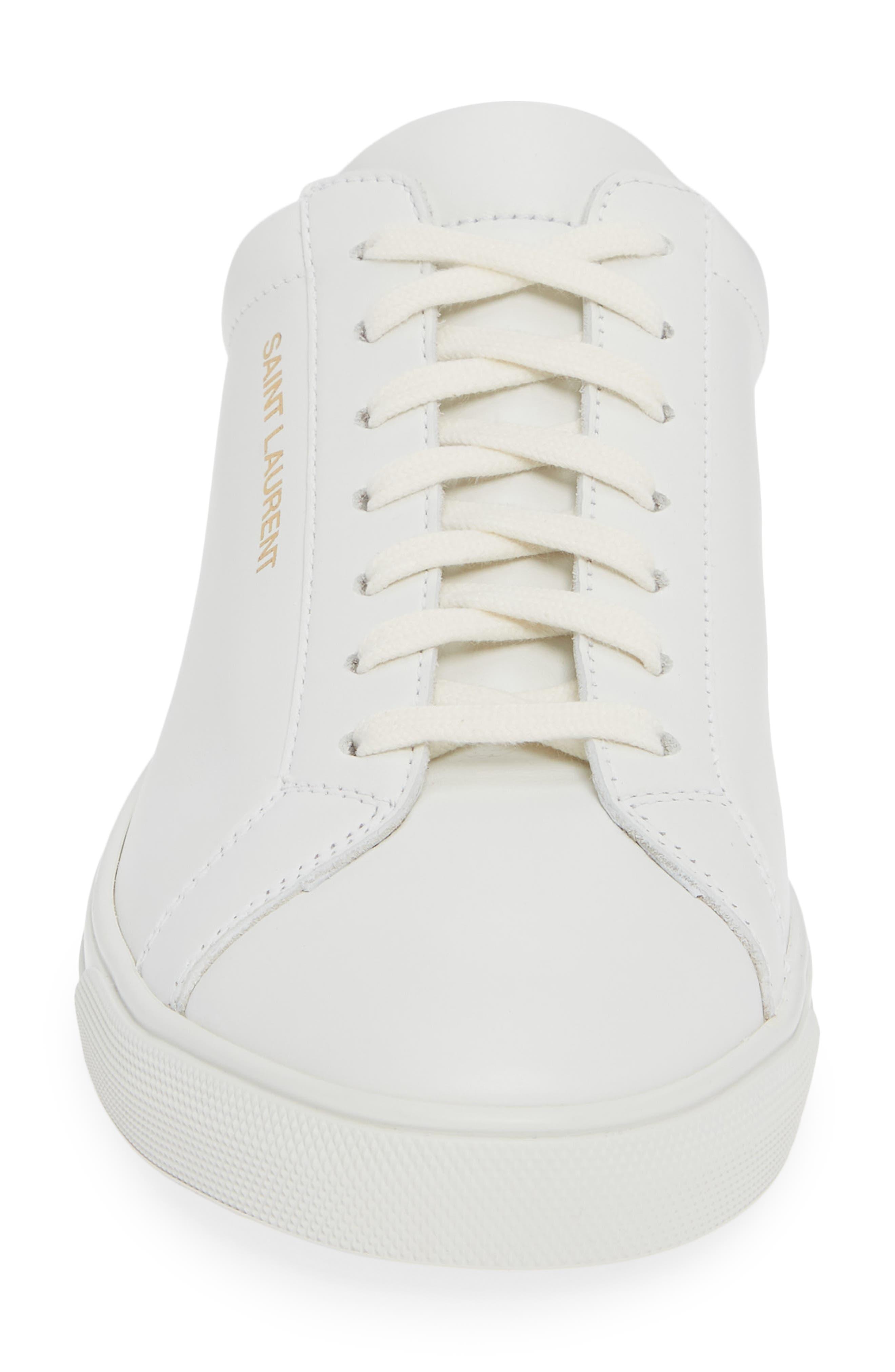 Andy Low Top Sneaker,                             Alternate thumbnail 4, color,                             BLANC OPTIQUE