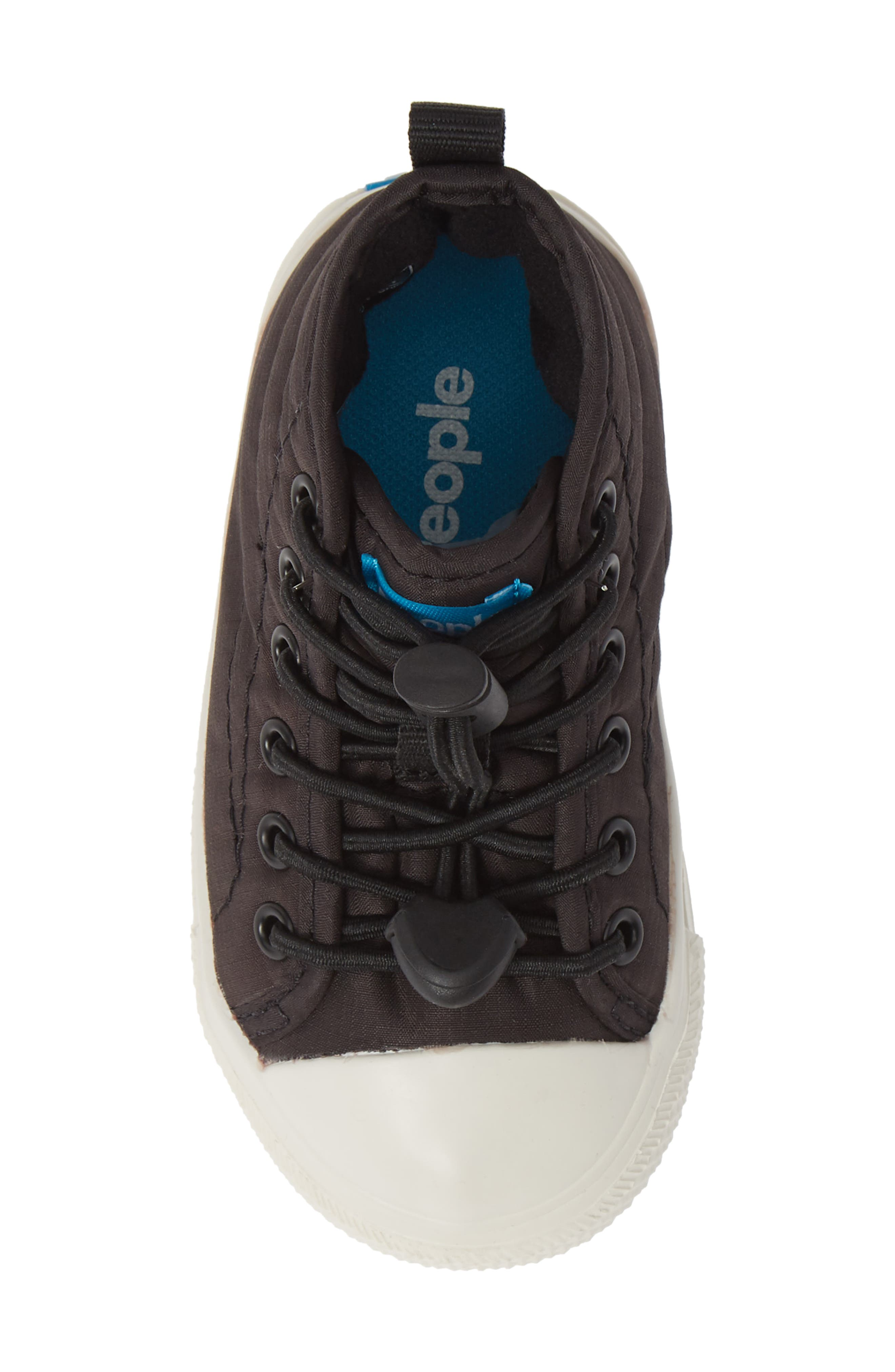 The Phillips Puffy Sneaker,                             Alternate thumbnail 5, color,                             REALLY BLACK/PICKET WHITE