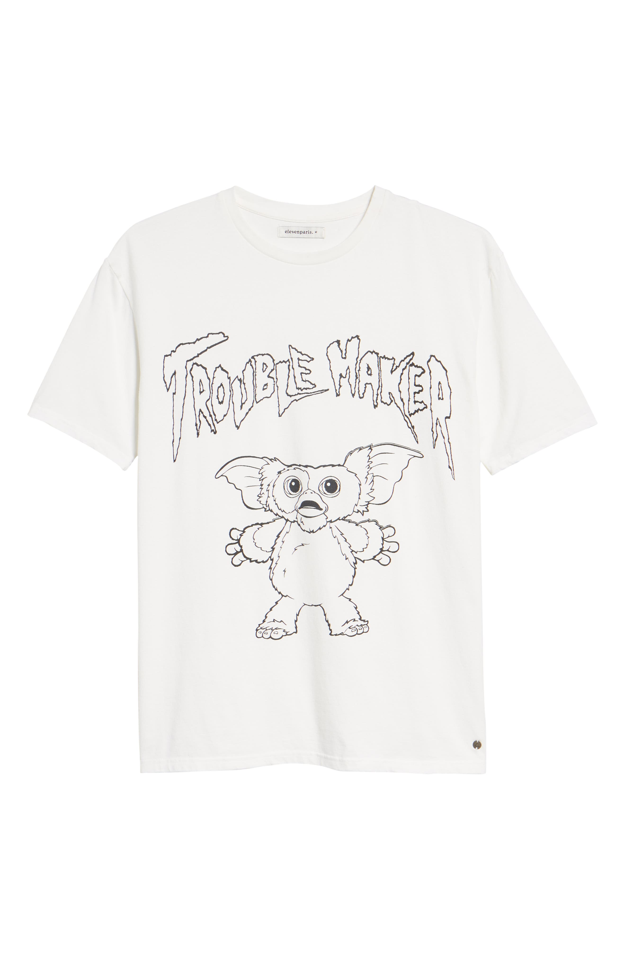 Gizmo Graphic Tee,                             Alternate thumbnail 6, color,                             WHITE