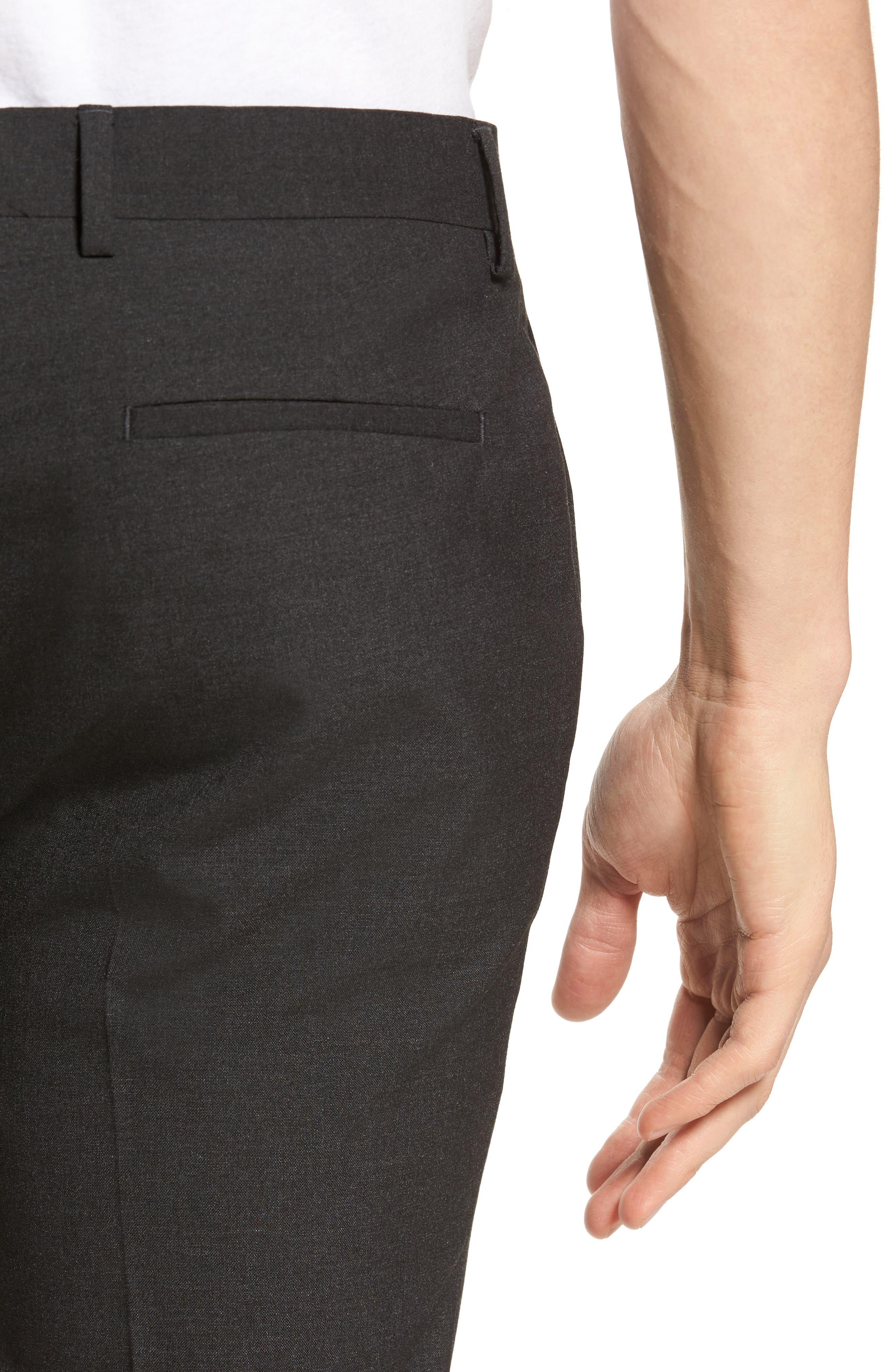 Black Skinny Fit Trousers,                             Alternate thumbnail 8, color,