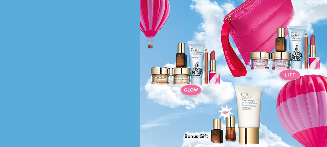 Estée Lauder gift with purchase: GLOW or LIFT.