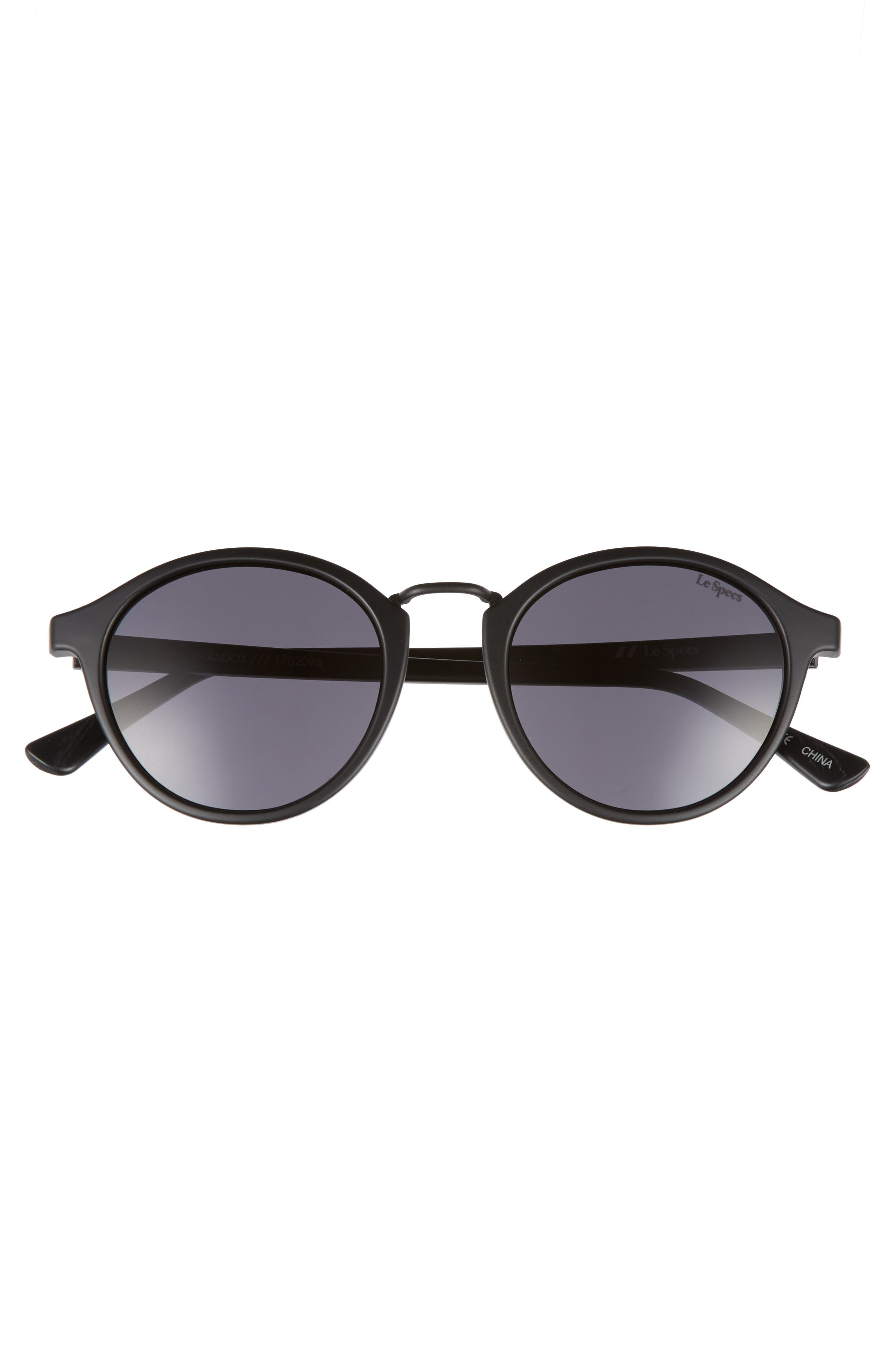 Paradox 49mm Oval Sunglasses,                             Alternate thumbnail 3, color,                             001