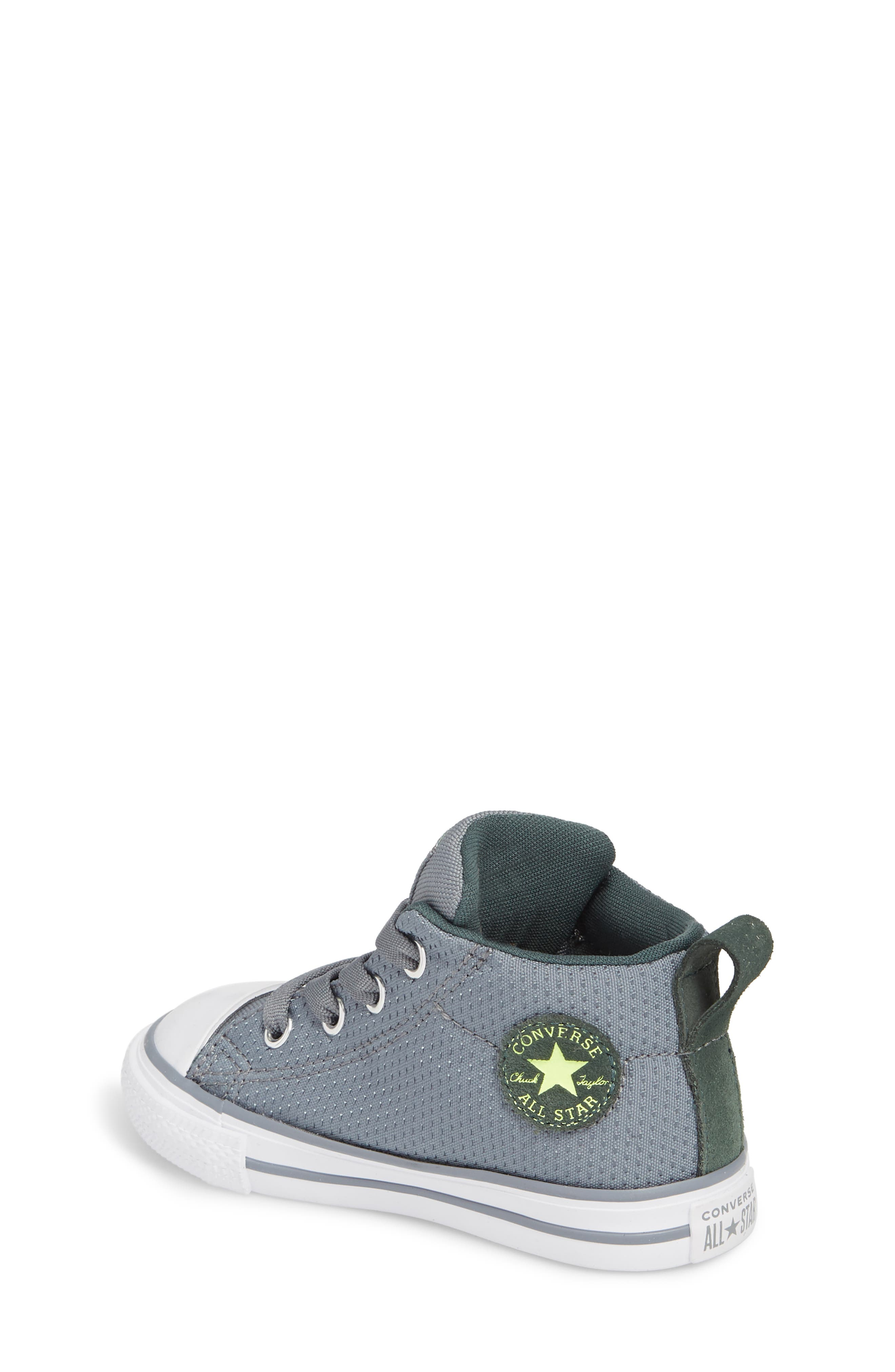 Chuck Taylor<sup>®</sup> All Star<sup>®</sup> Street Mid Top Sneaker,                             Alternate thumbnail 2, color,                             PALE GREY