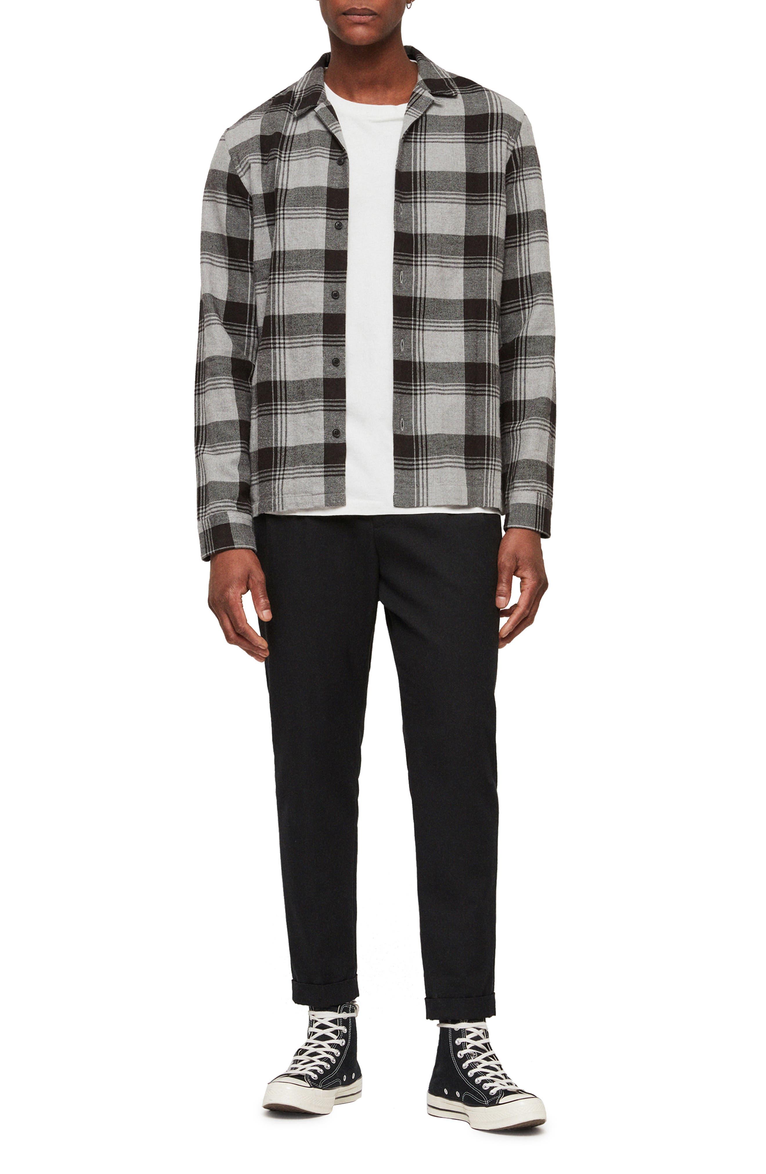 Danby Flannel Shirt Jacket,                             Alternate thumbnail 5, color,                             BLACK/ ECRU WHITE