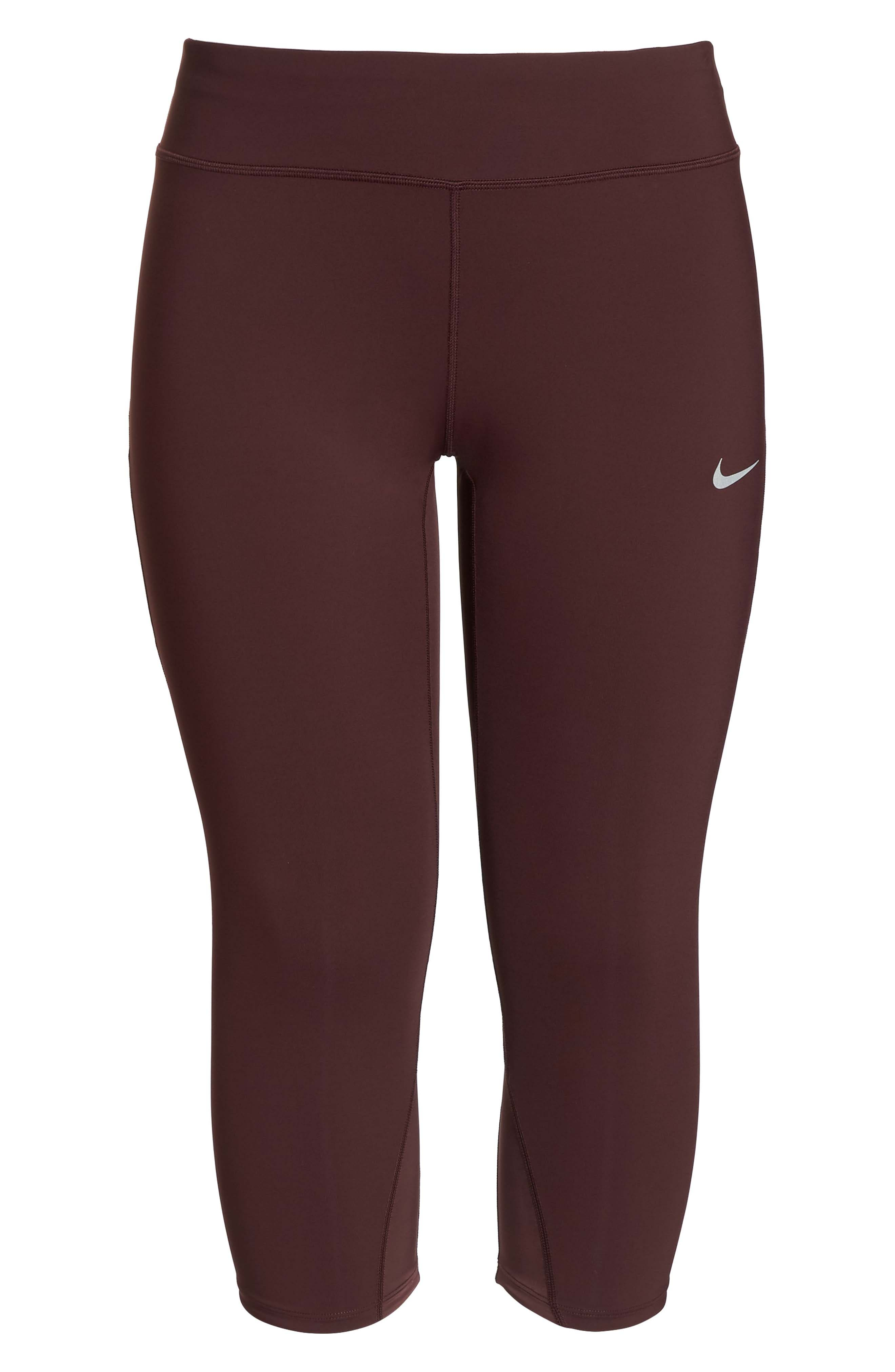 Power Epic Lux Crop Running Tights,                             Alternate thumbnail 18, color,