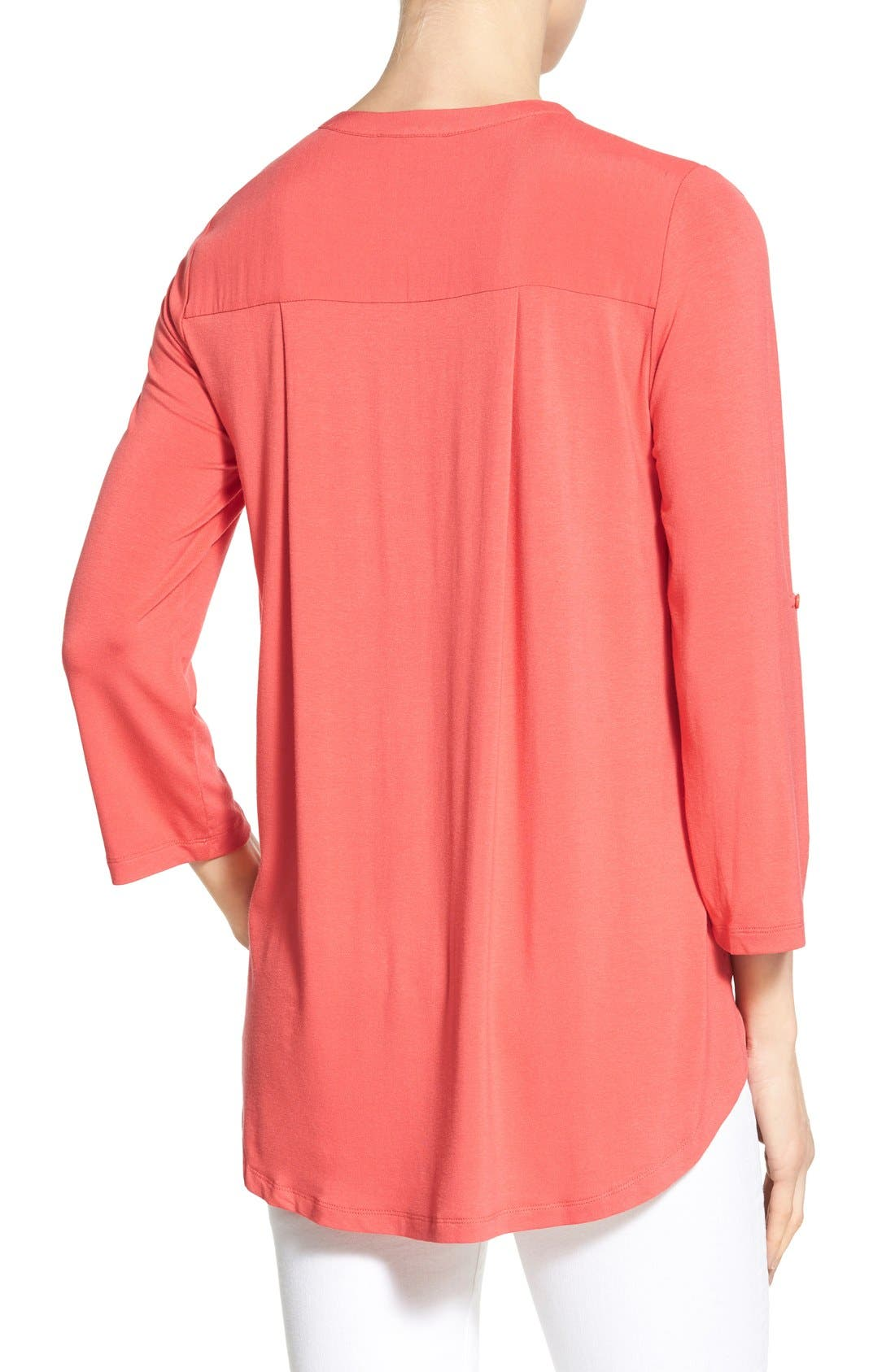 Mixed Media V-Neck Tunic,                             Alternate thumbnail 175, color,