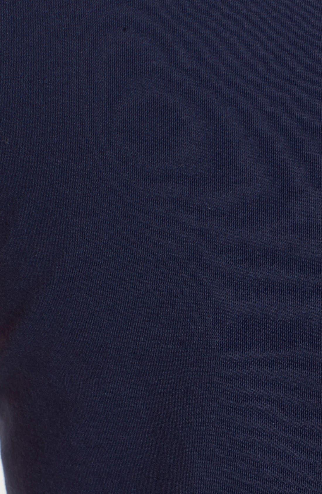 'Brewster' Contrast Trim T-Shirt Dress,                             Alternate thumbnail 7, color,                             TRUE NAVY
