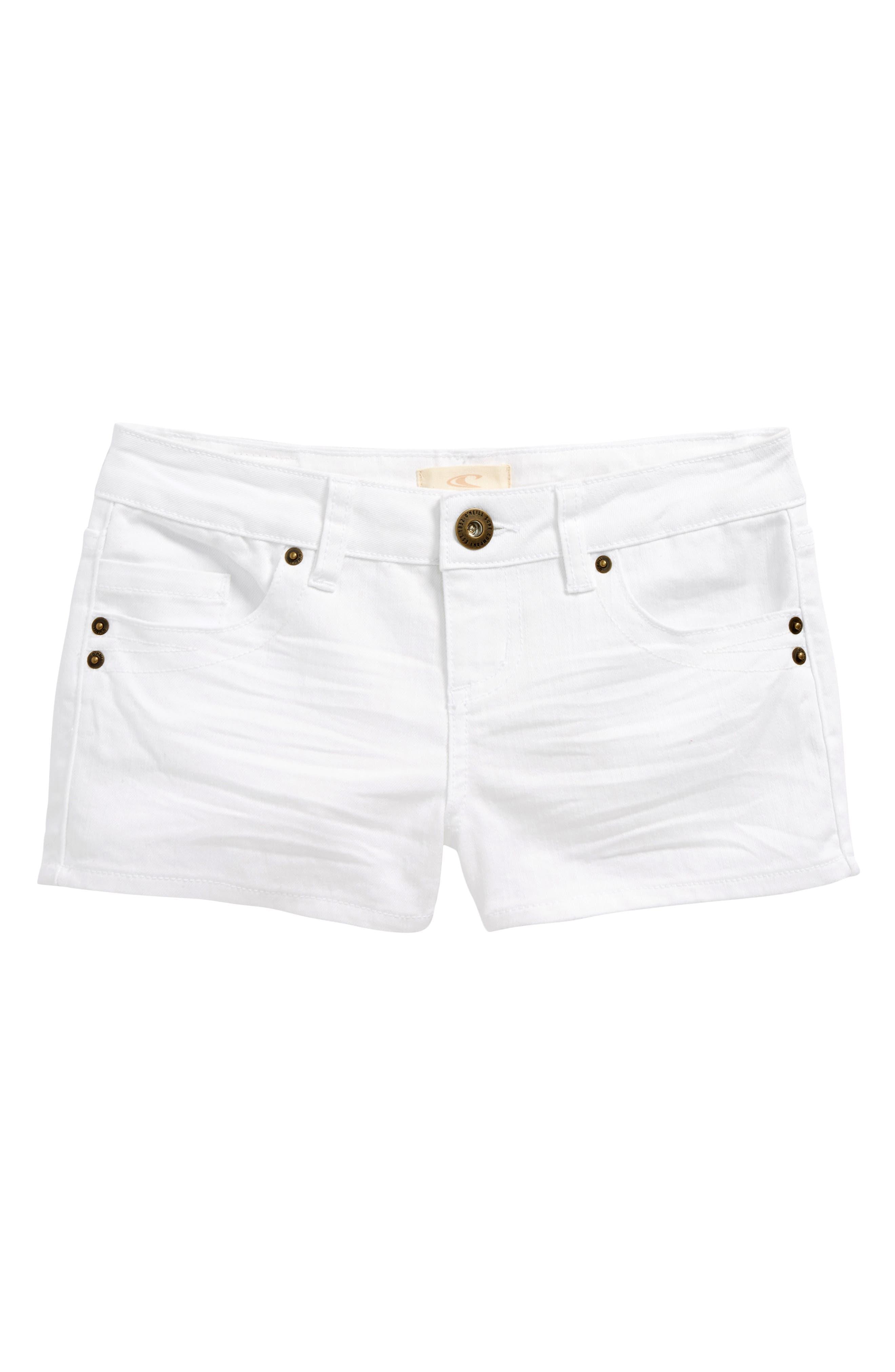 Waidley Denim Shorts,                         Main,                         color, 100