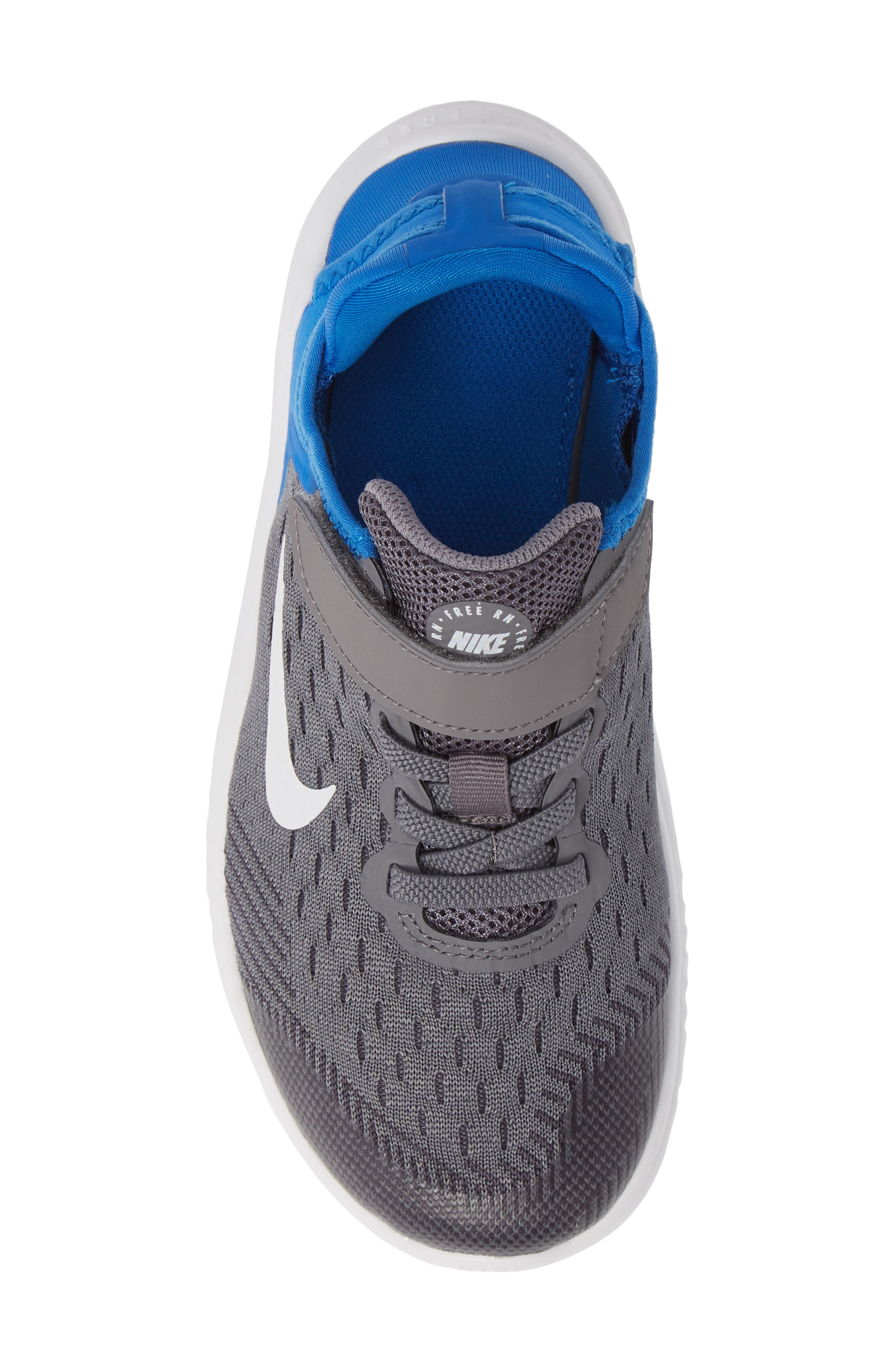 Free RN Running Shoe,                             Alternate thumbnail 5, color,                             GREY/WHITE/BLUE