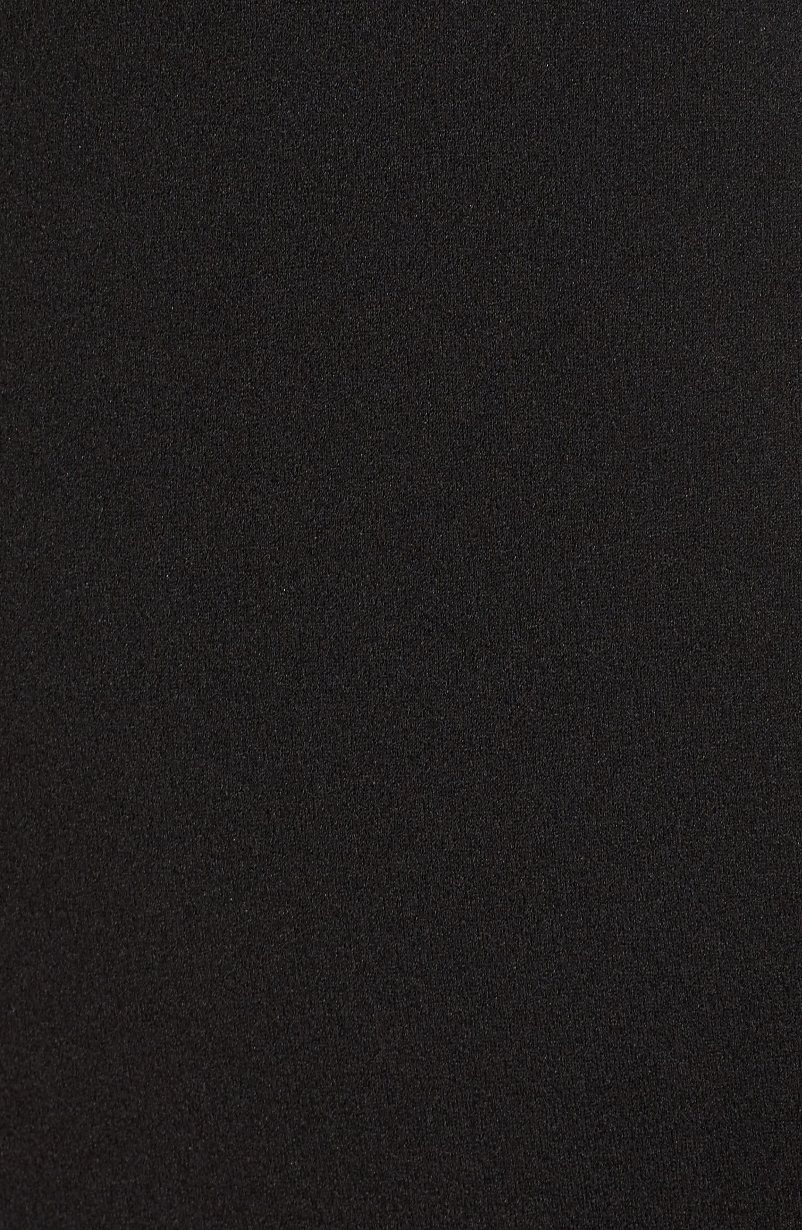 Heaven & Earth Plunge Neck Gown,                             Alternate thumbnail 5, color,                             BLACK
