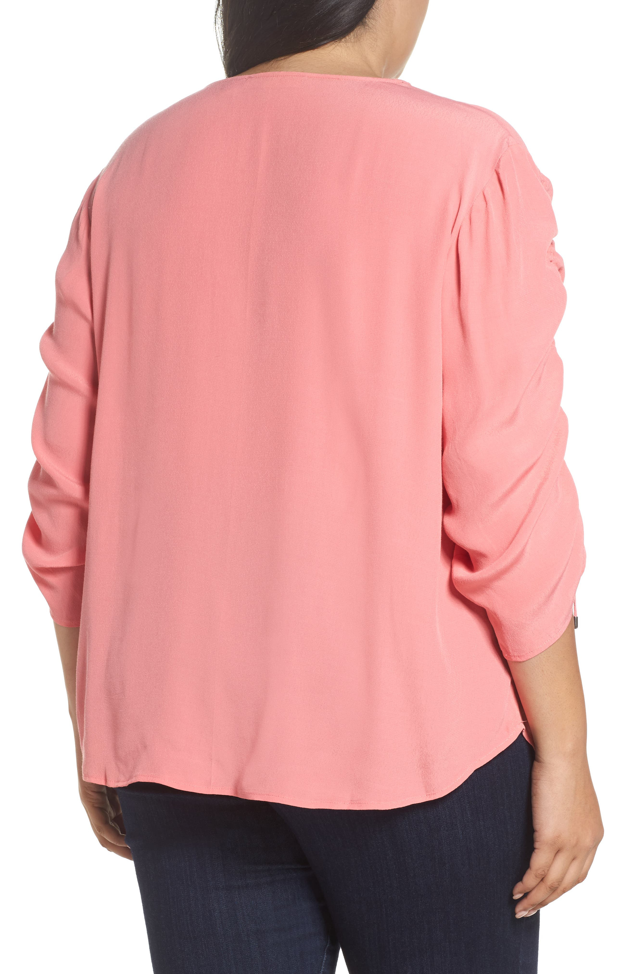 Cinched Sleeve Top,                             Alternate thumbnail 6, color,