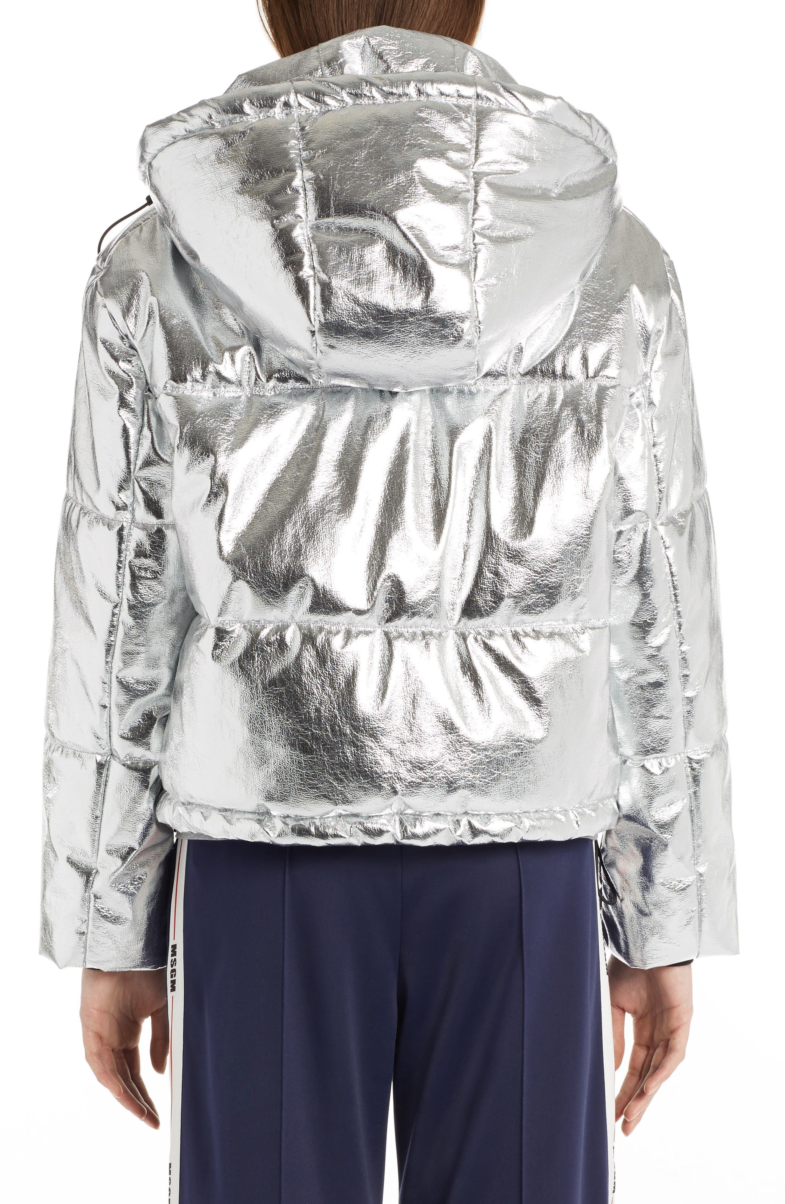 Metallic Quilted Bomber Jacket,                             Alternate thumbnail 2, color,                             040