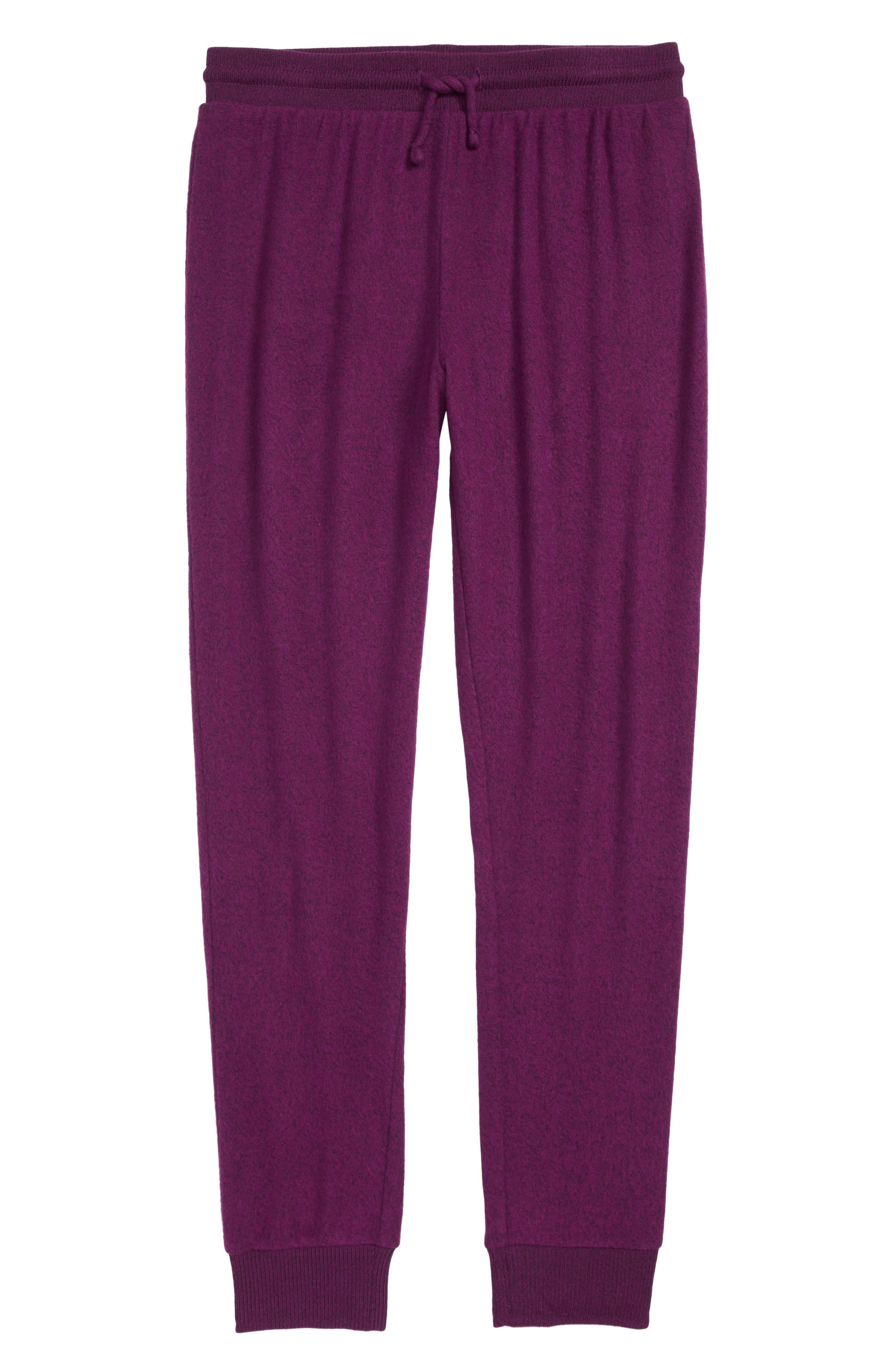 Jogger Pants,                         Main,                         color, PURPLE DARK HEATHER