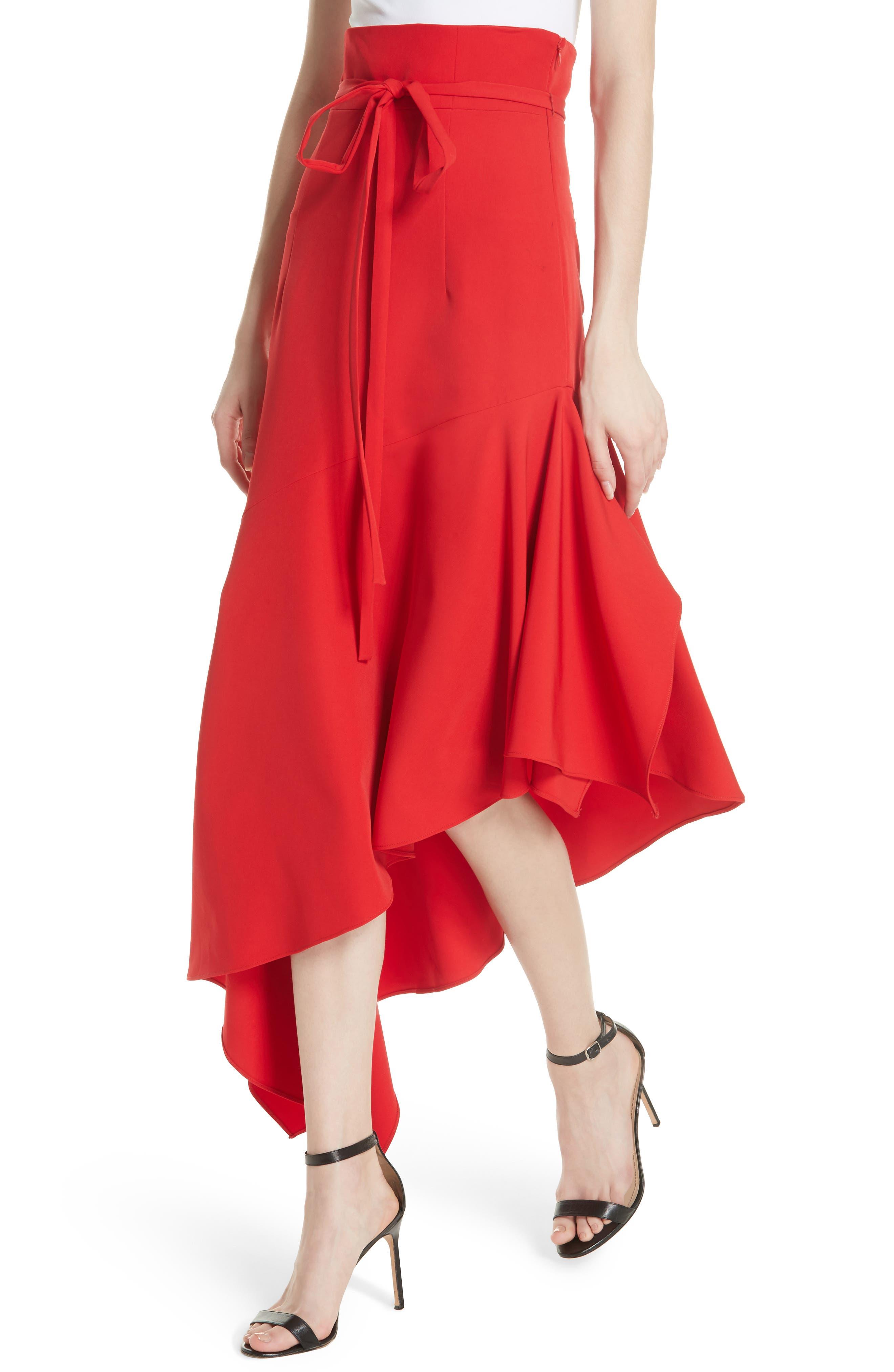 Italian Cady Maxi Skirt,                             Alternate thumbnail 4, color,                             607