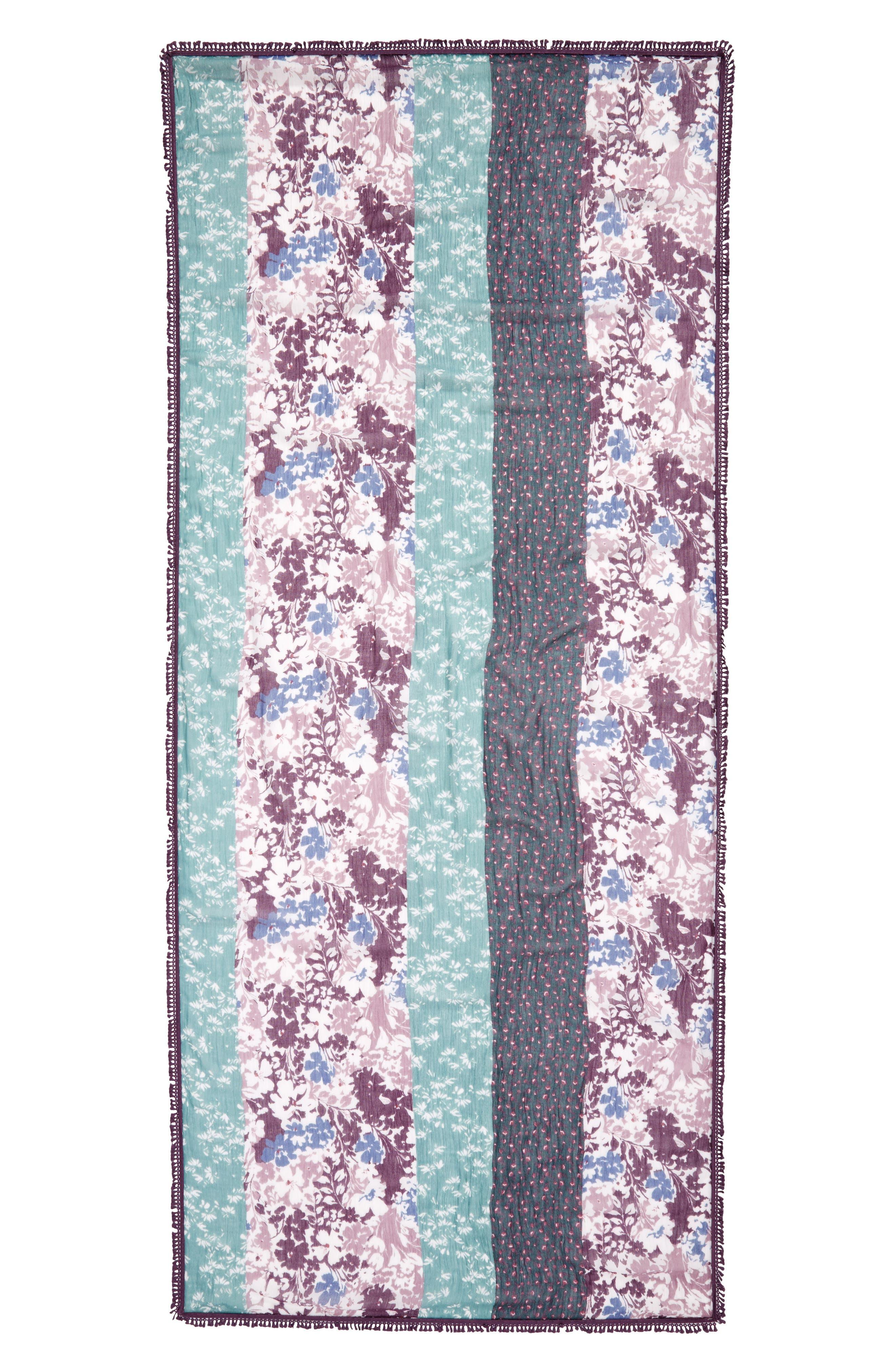 Tassel Trim Printed Wrap,                             Alternate thumbnail 14, color,