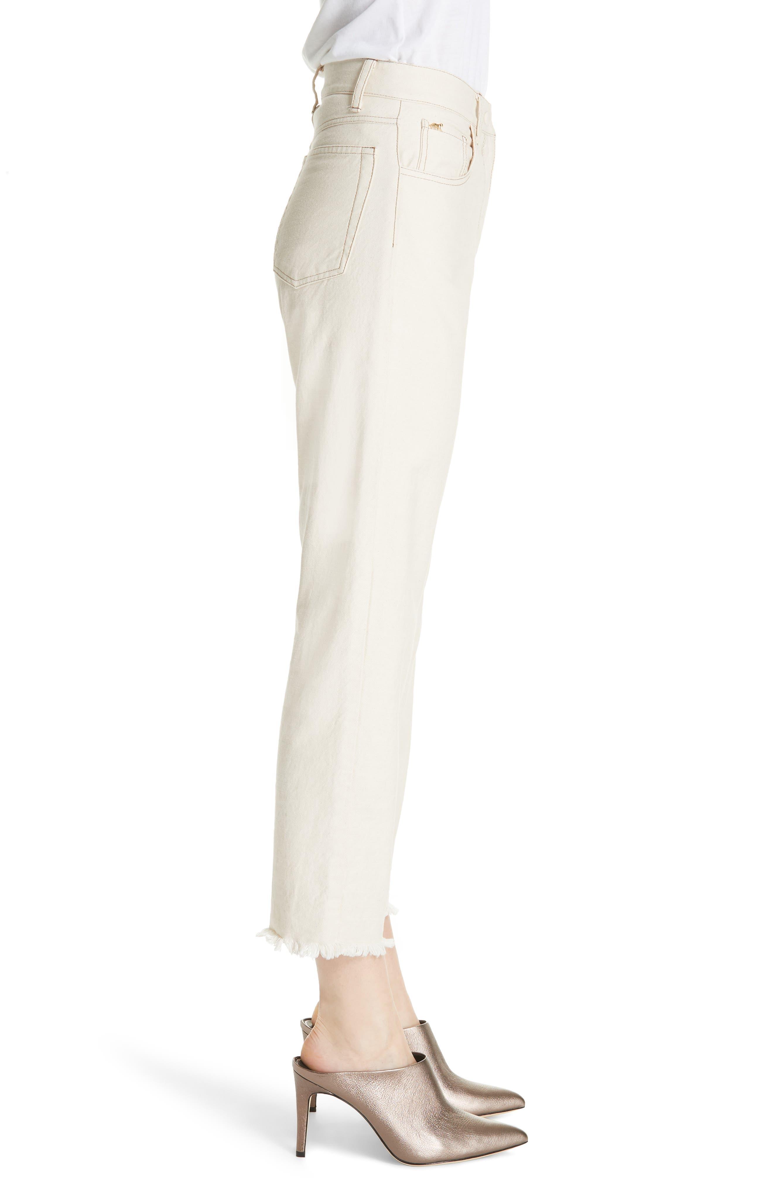 Rupa Ankle Straight Leg Jeans,                             Alternate thumbnail 3, color,                             CREME