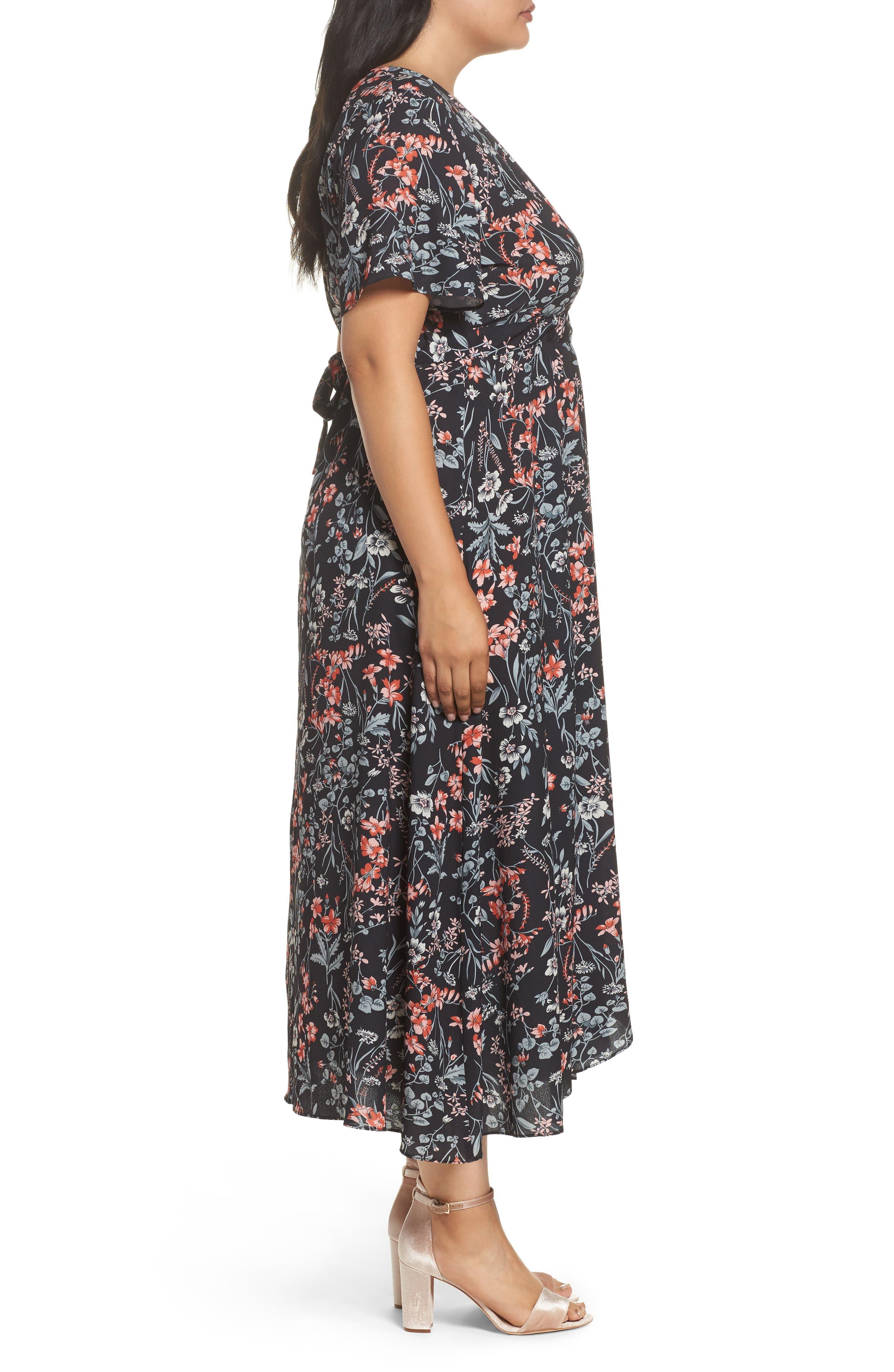 Print Maxi Dress,                             Alternate thumbnail 3, color,                             010