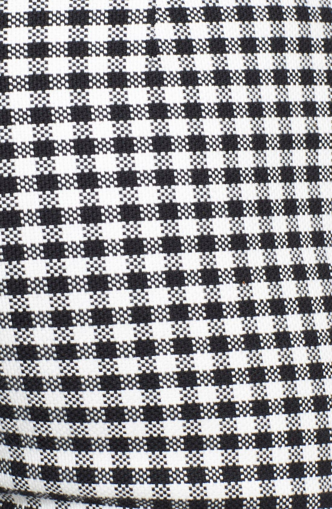 High Rise Gingham Crop Pants,                             Alternate thumbnail 2, color,                             001