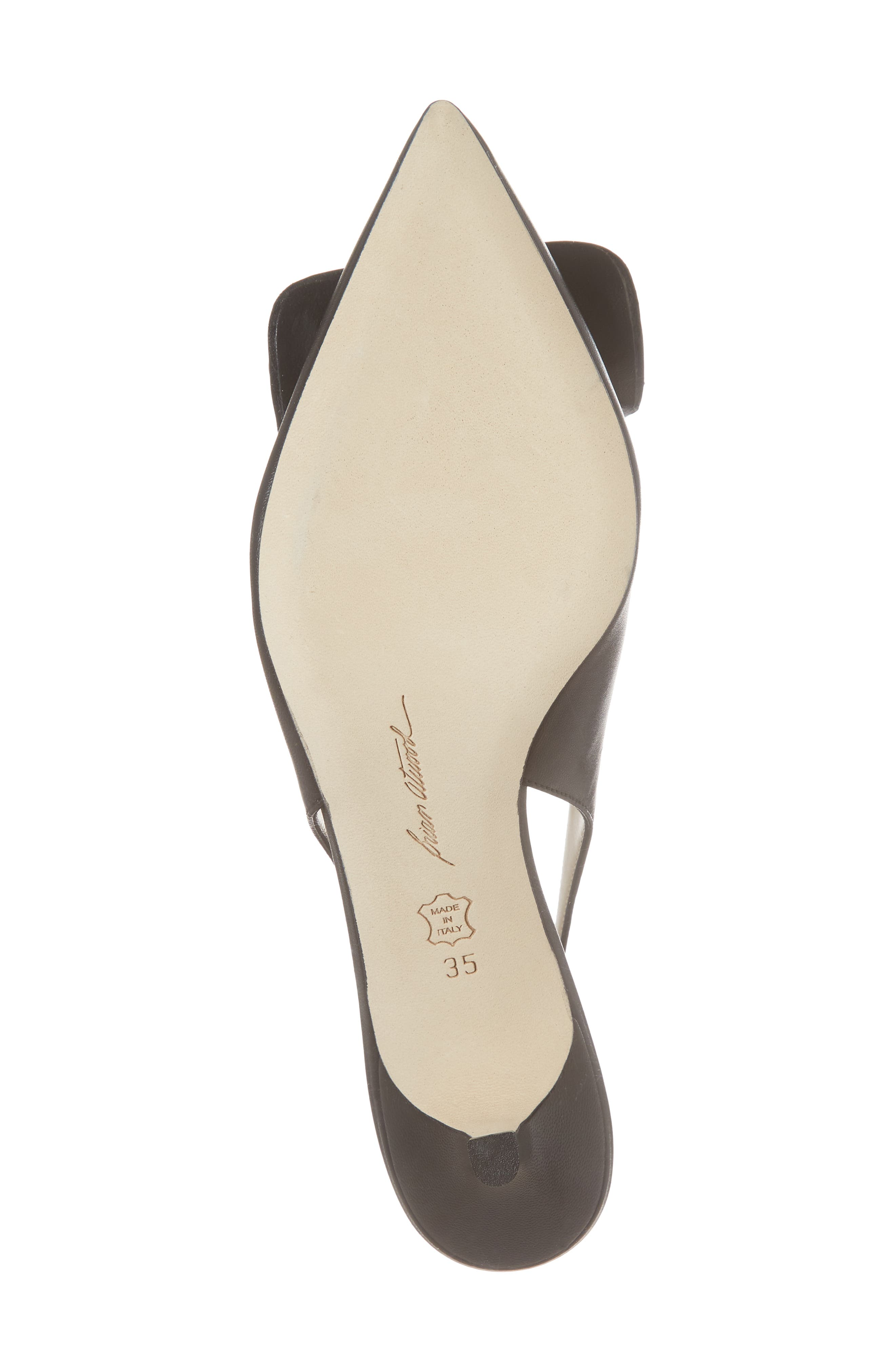 Guiliaa Slingback Pump,                             Alternate thumbnail 6, color,                             BLACK NAPPA