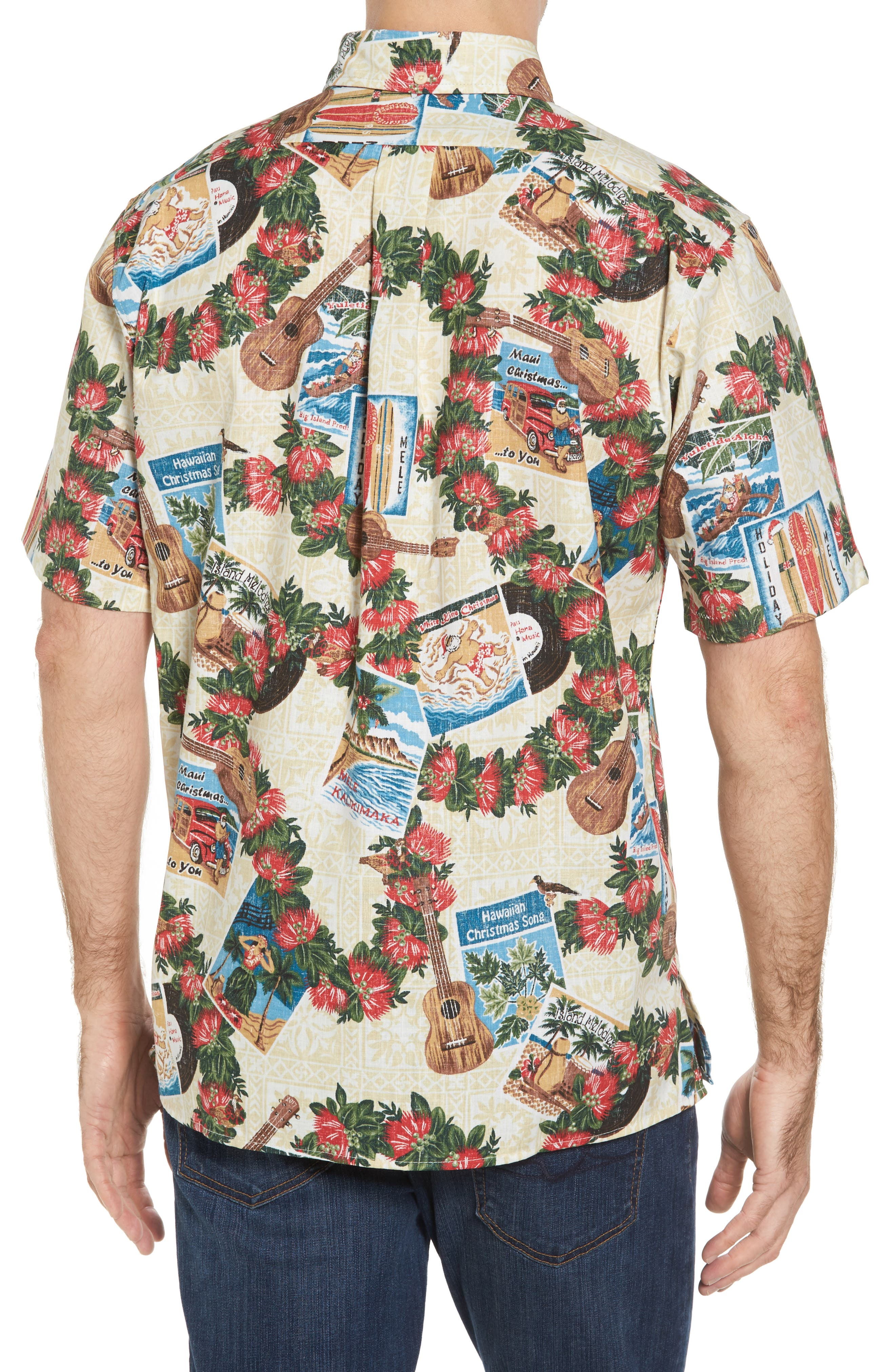 Hawaiian Christmas 2017 Sport Shirt,                             Alternate thumbnail 2, color,                             104