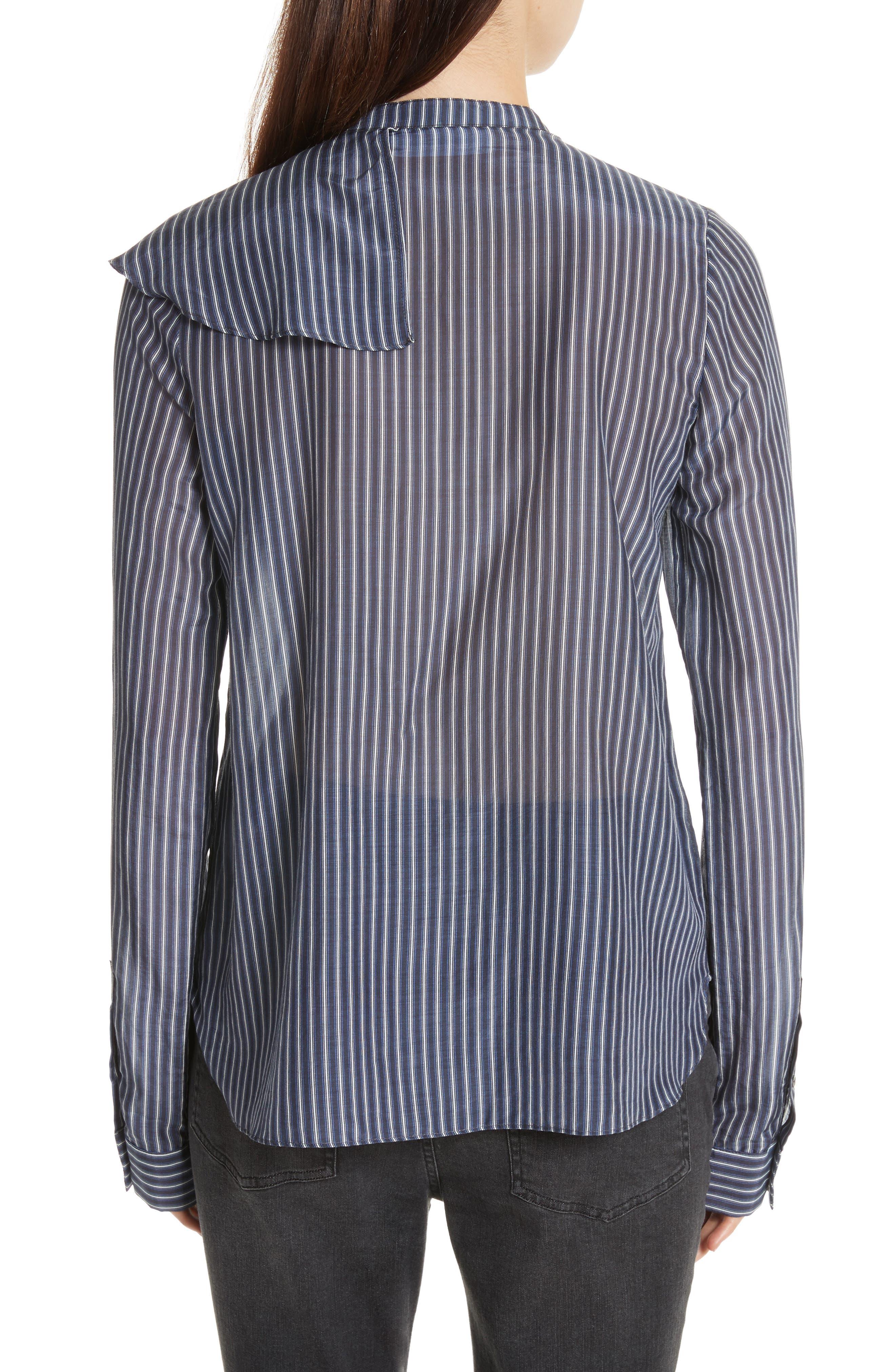 Vertical Stripe Ruffle Shirt,                             Alternate thumbnail 2, color,                             400