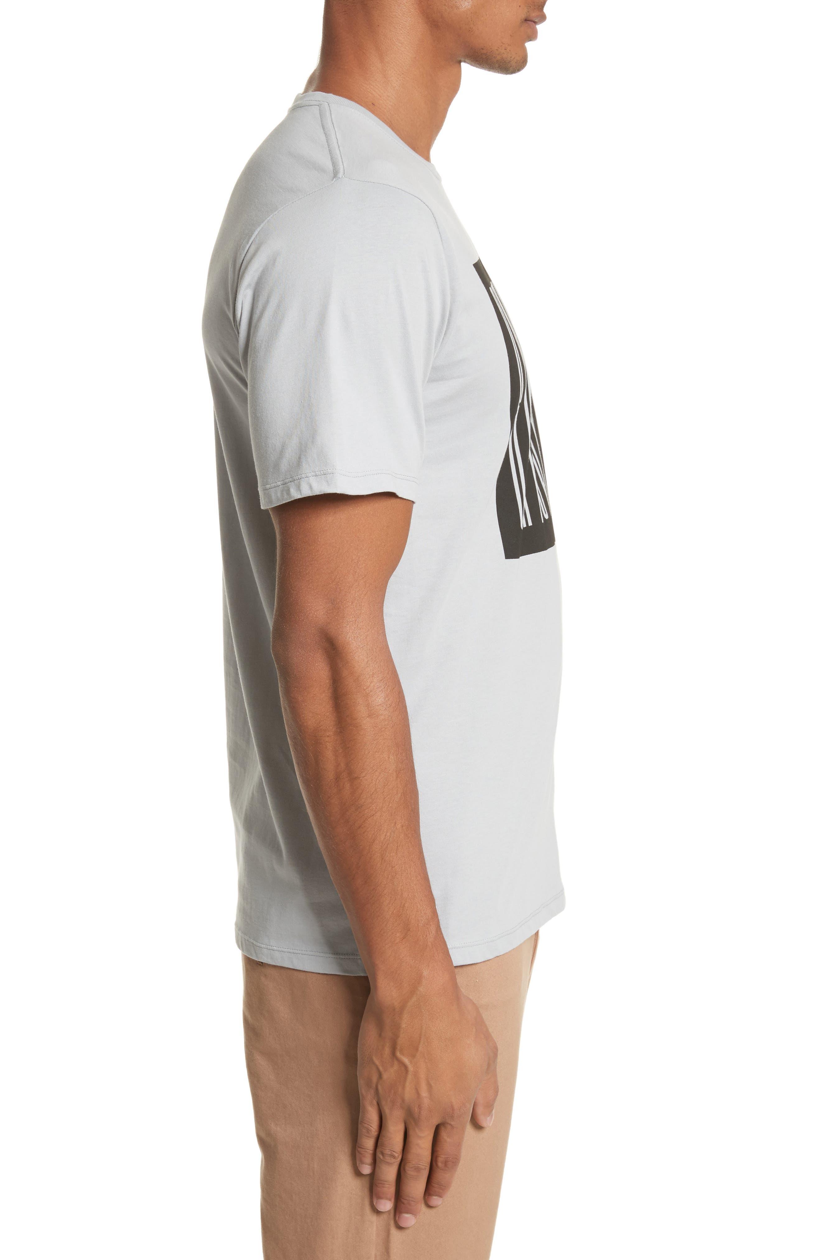 Super Condensed Logo T-Shirt,                             Alternate thumbnail 3, color,                             STONE BLUE