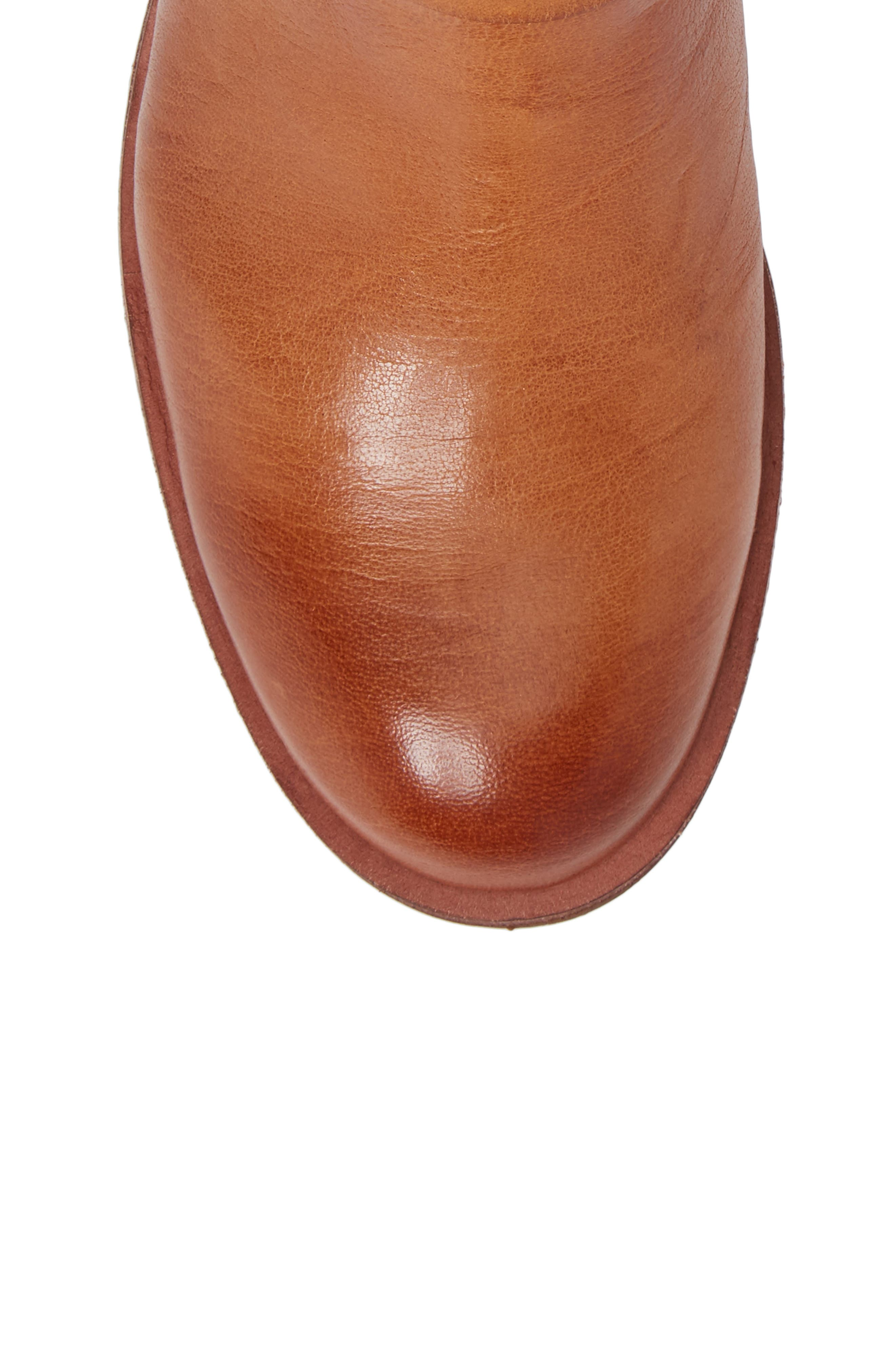 Baywood Buckle Boot,                             Alternate thumbnail 5, color,                             LUGGAGE LEATHER
