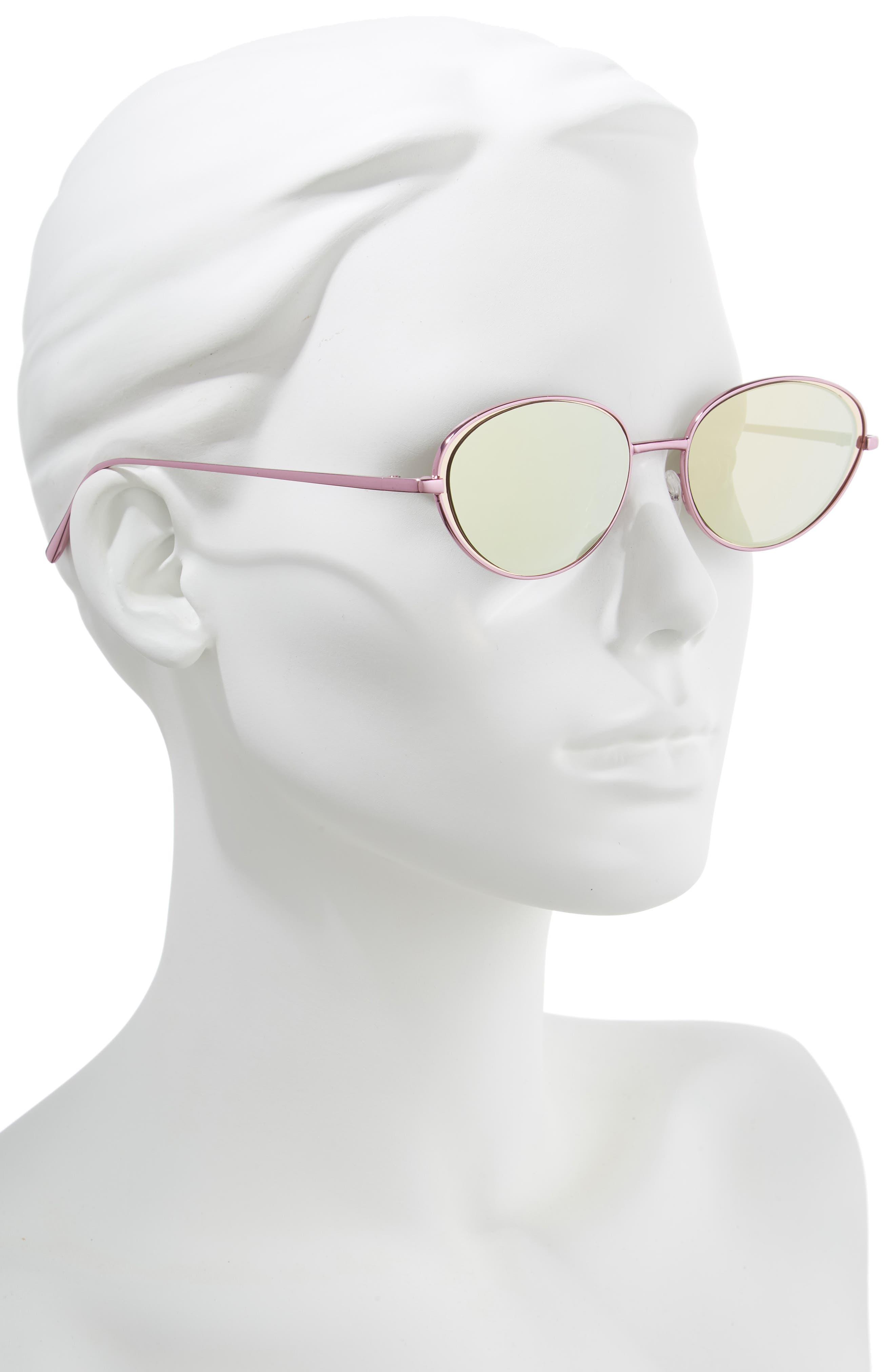 57mm Oval Sunglasses,                             Alternate thumbnail 2, color,                             650