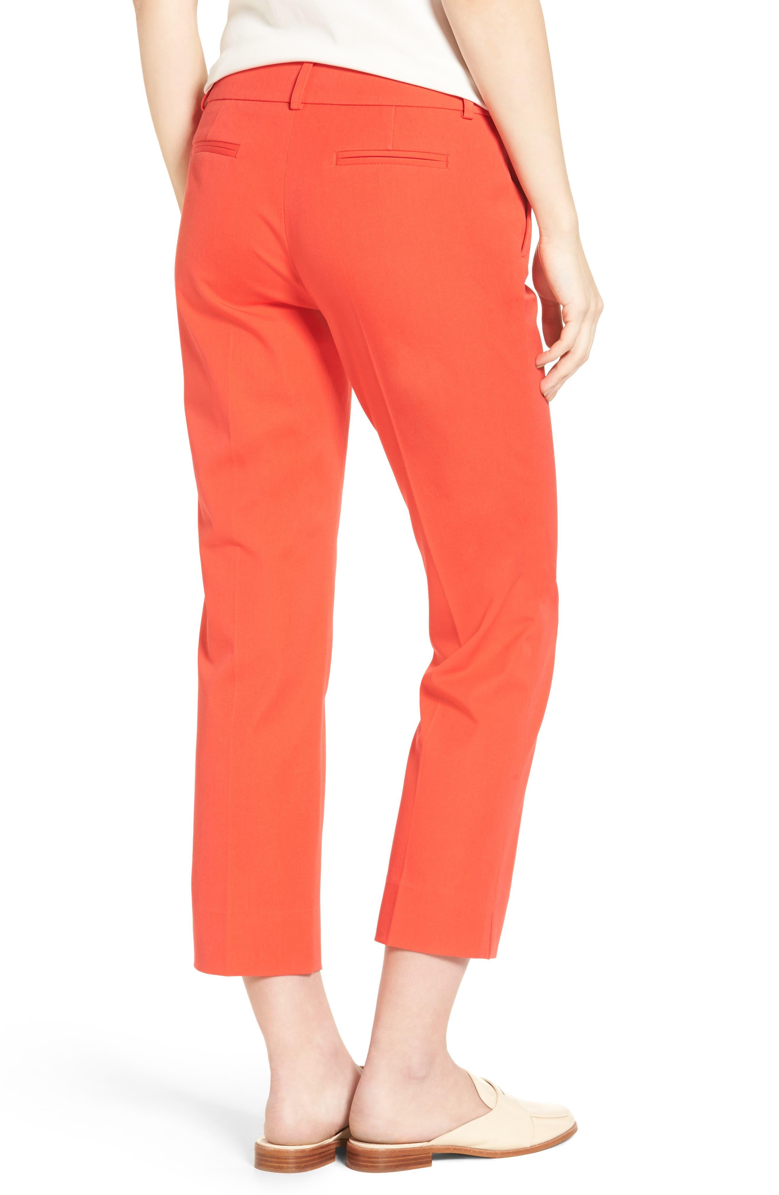 Crop Stretch Cotton Pants,                             Alternate thumbnail 41, color,