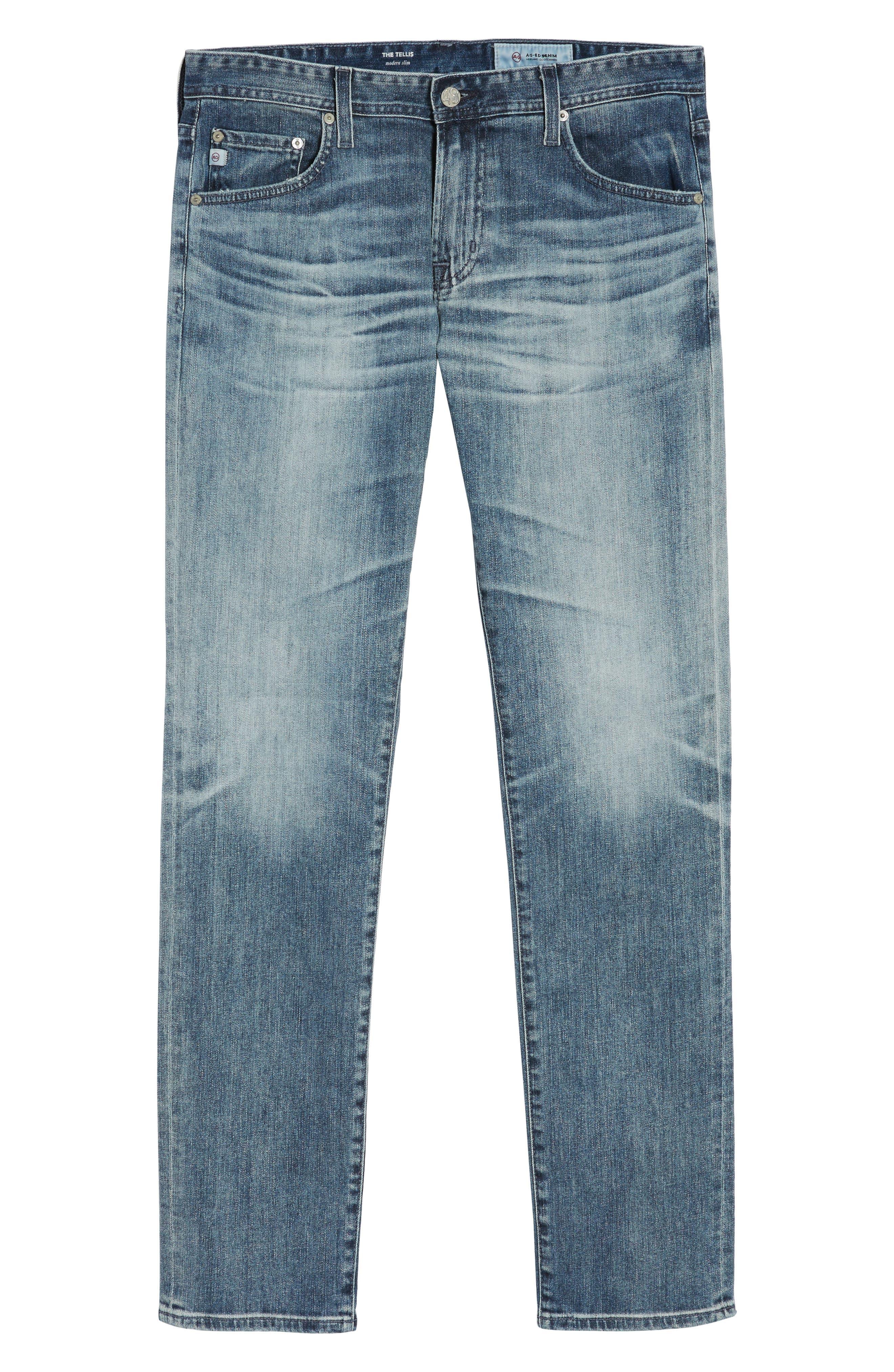 Tellis Slim Fit Jeans,                             Alternate thumbnail 6, color,                             487