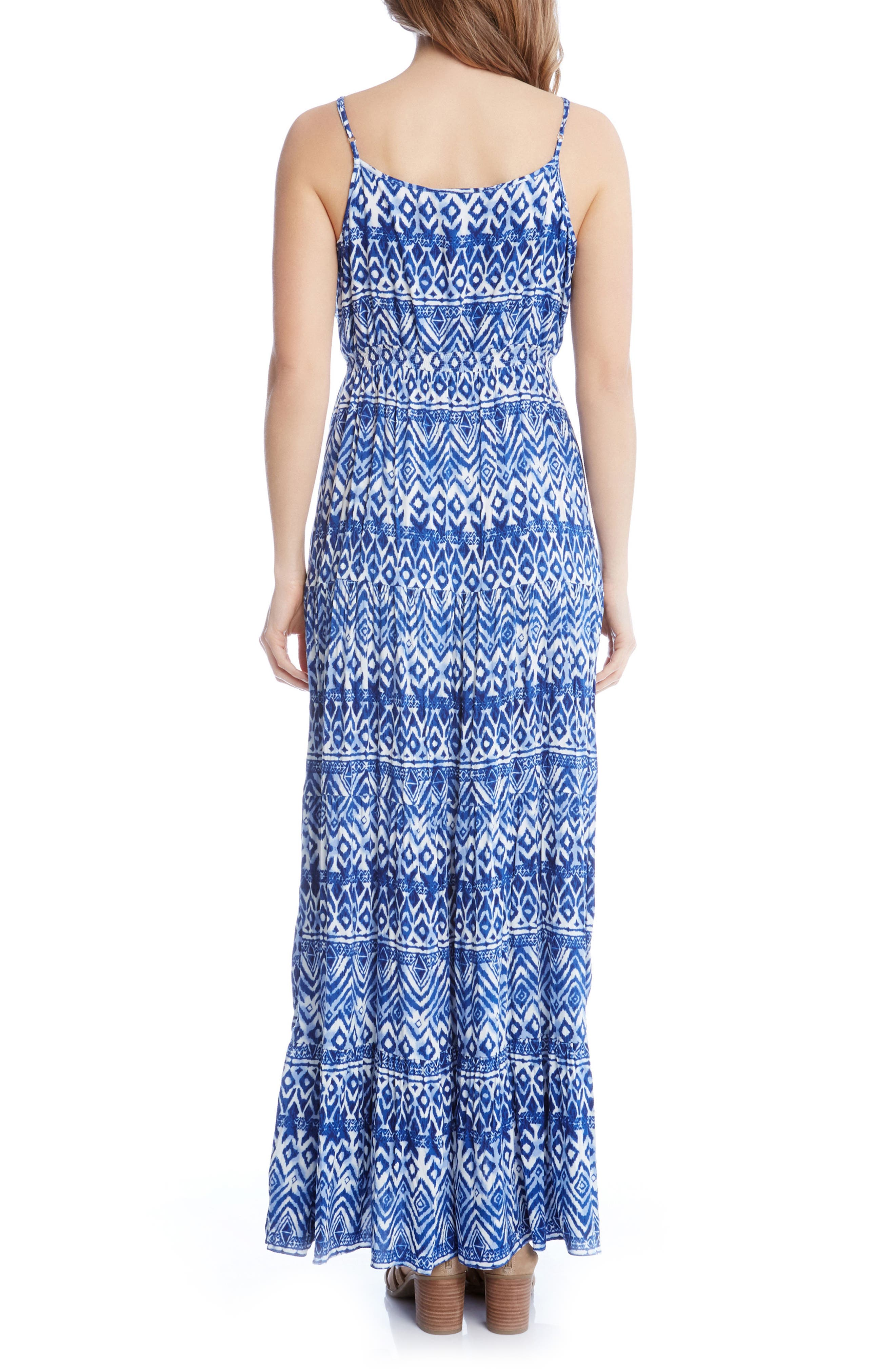 Batik Print Tiered Maxi Dress,                             Alternate thumbnail 2, color,                             460